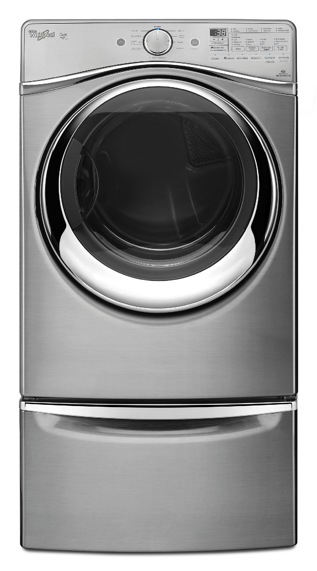 Whirlpool WED97HEDU 7.4 cu. ft. Duet® Electric Dryer w/ SilentSteel™ Drum - Diamond Steel