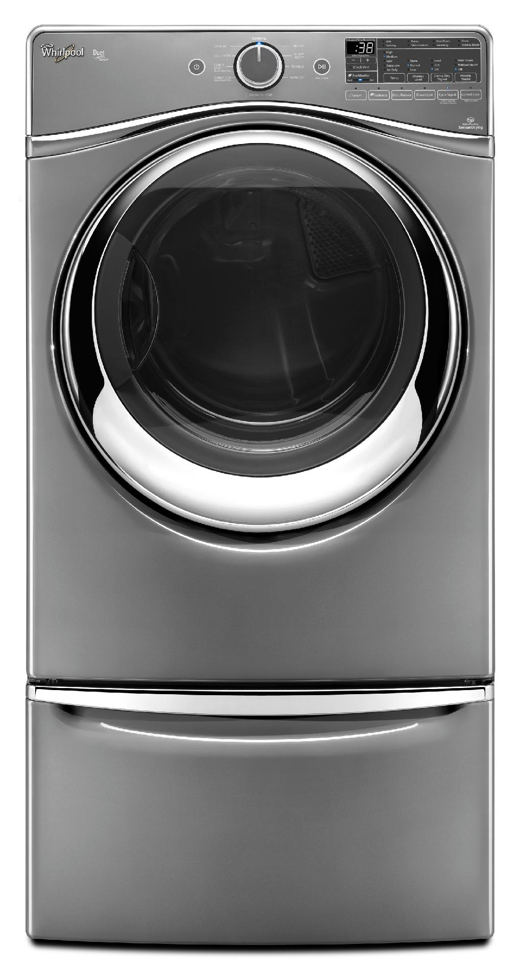 Whirlpool WGD97HEDC 7.4 cu. ft. Duet® Gas Dryer w/ SilentSteel™ Drum - Chrome Shadow