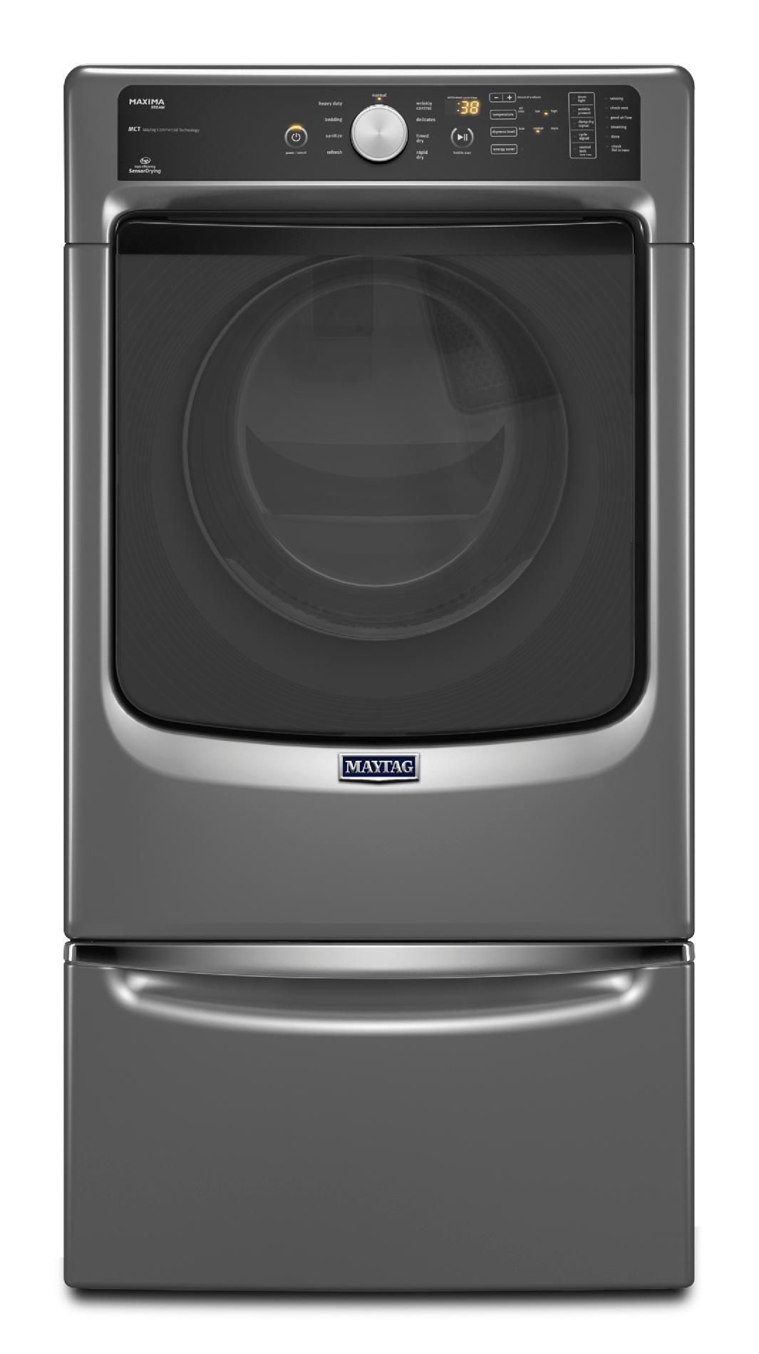 Maytag 7.4 cu. ft. Maxima® Electric Dryer w/ Steam Cycle - Metallic Slate