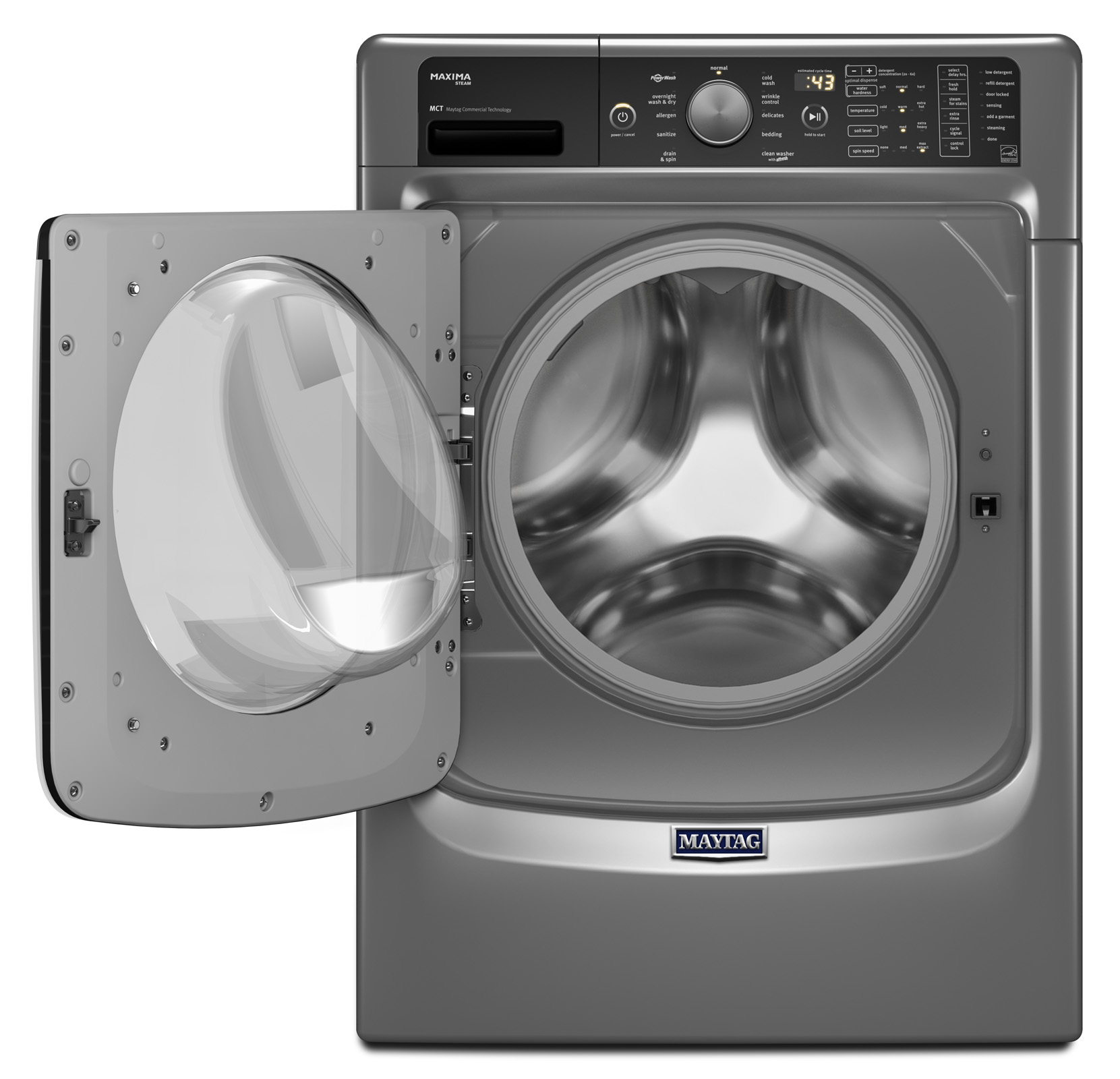 Maytag 4.5 cu. ft. Maxima® Front-Load Washer w/ Wash and Dry Cycle - Metallic Slate