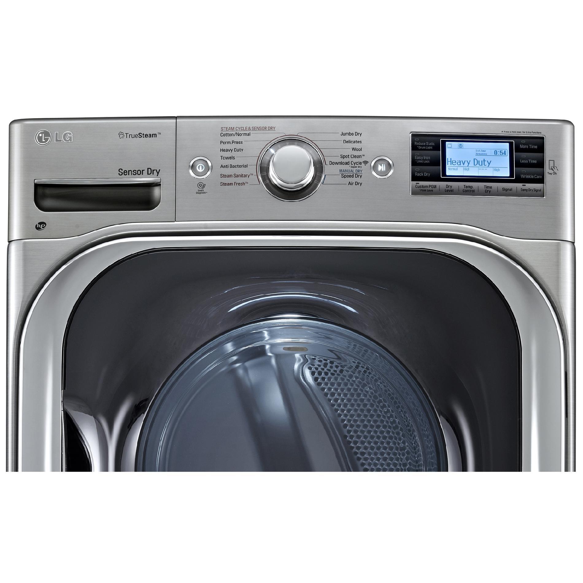 LG DLGX8501V 9.0 Cu. Ft. Mega Capacity Gas Dryer w/ Steam Technology