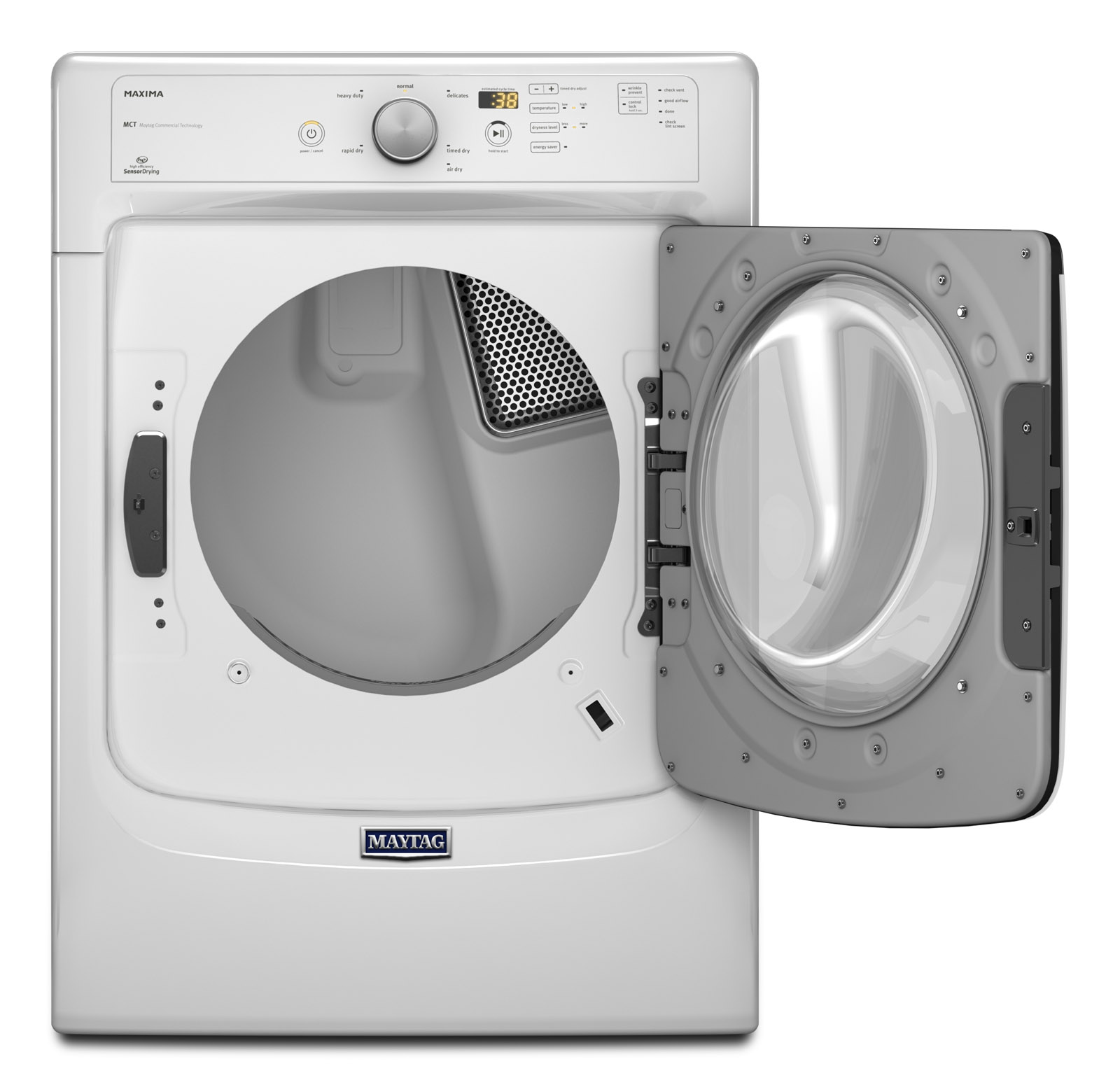 Maytag MGD3100DW 7.4 cu. ft. Maxima® Gas Dryer w/ Rapid Dry Cycle - White