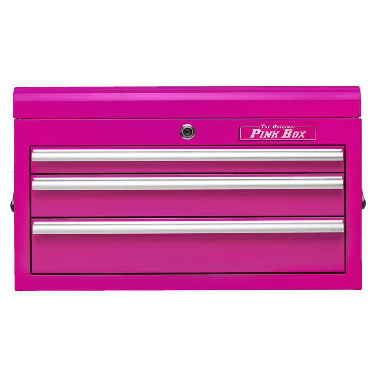 "The Original Pink Box 26"" 3 Drawer Top Chest, Pink"