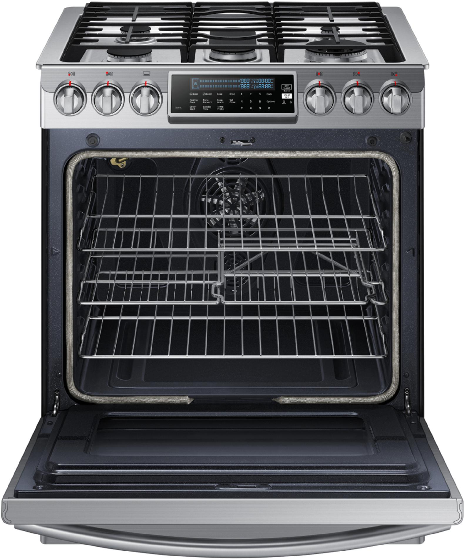 Samsung NX58H9500WS 5.8 cu. ft. Slide-In Gas Range w/ Intuitive Controls - Stainless Steel