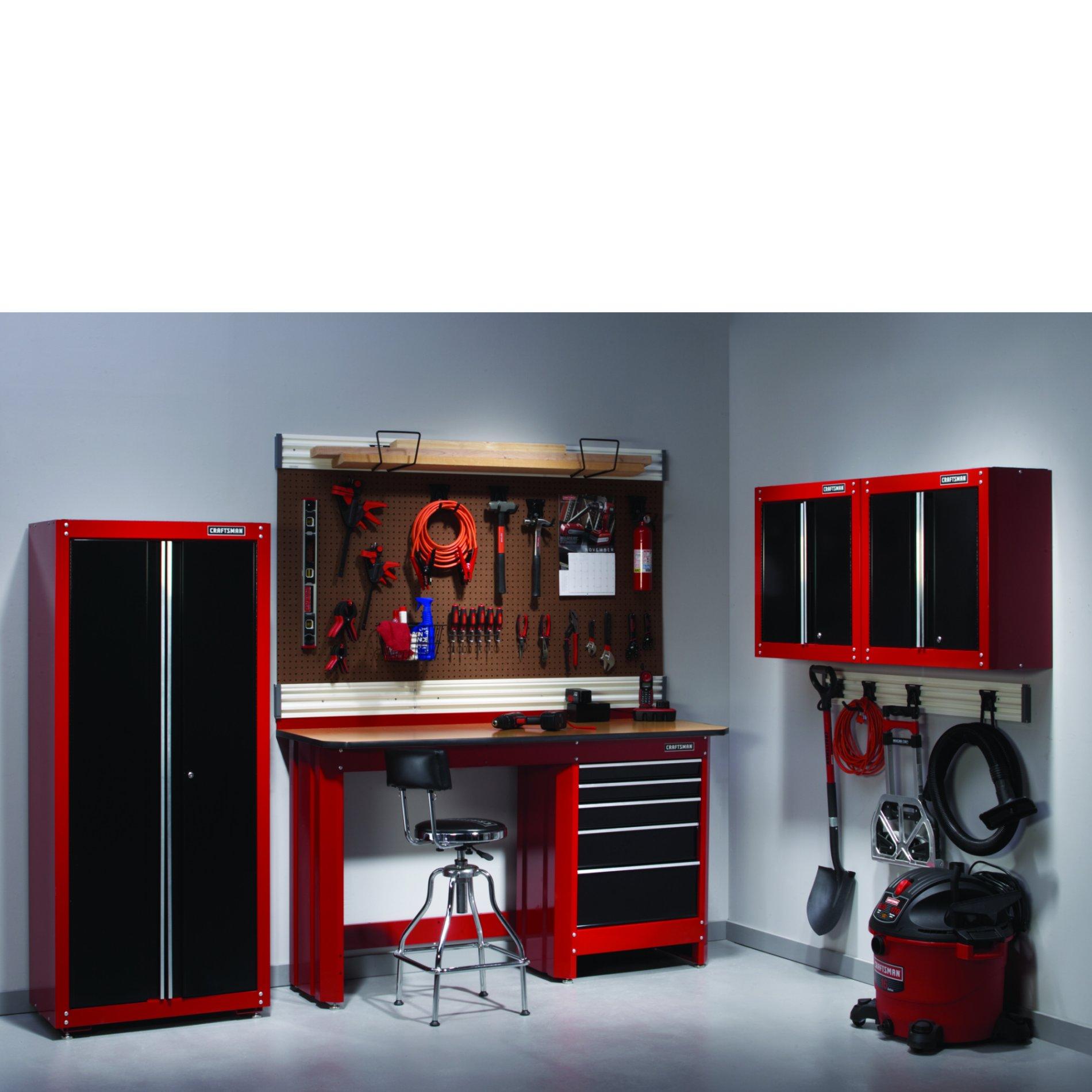 5-PC Heavy-duty Garage Storage Set - Red/Black