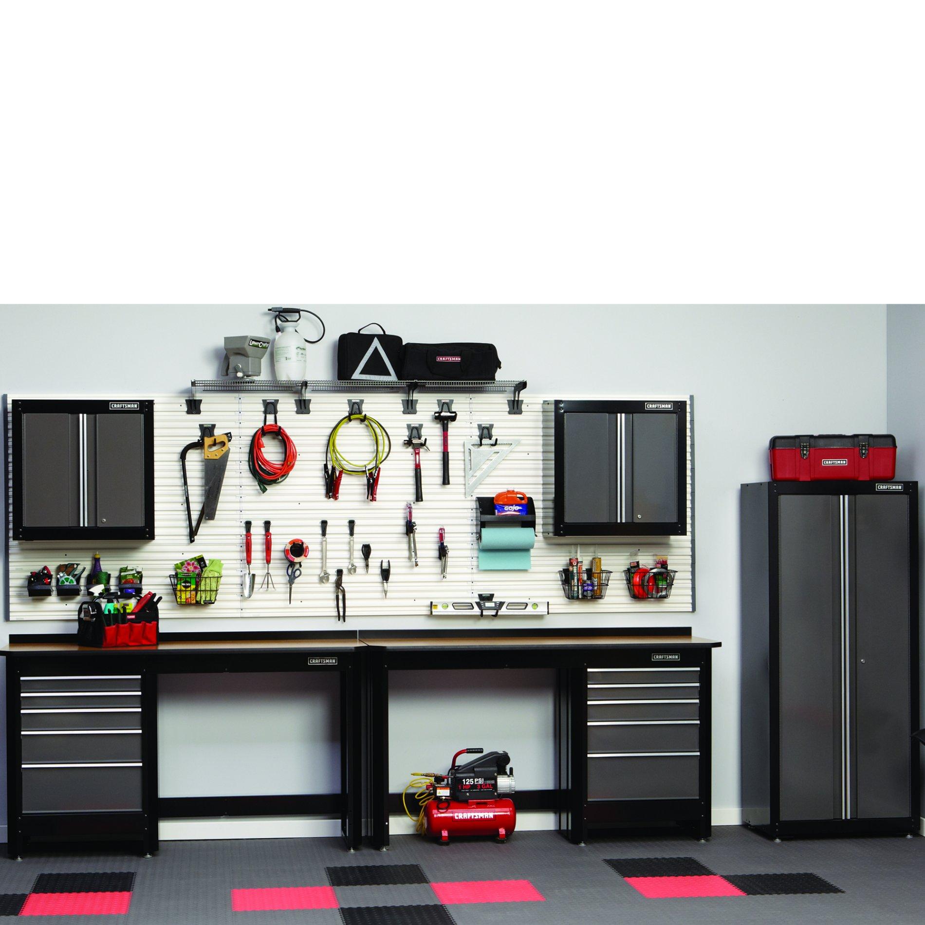 7-PC Heavy-duty Garage Storage Set - Black/Platinum