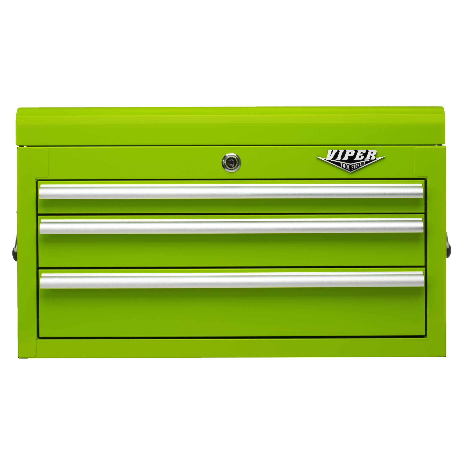Viper Tool Storage 26-inch 3 Drawer 18G Steel Top Chest  Lime