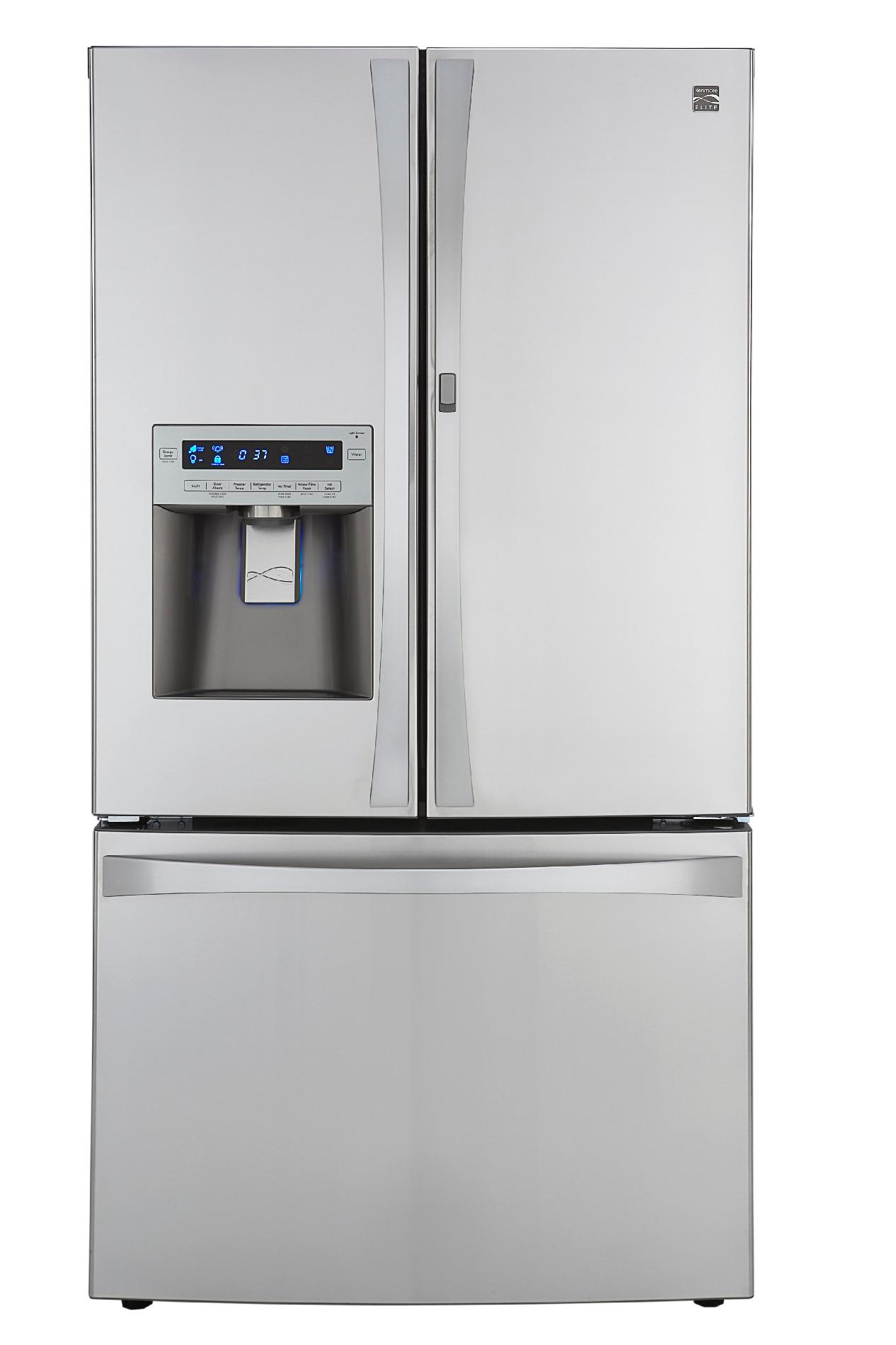 Kenmore Elite 31 cu. ft. Grab-N-Go French Door  Bottom-Freezer Refrigerator - Stainless Steel