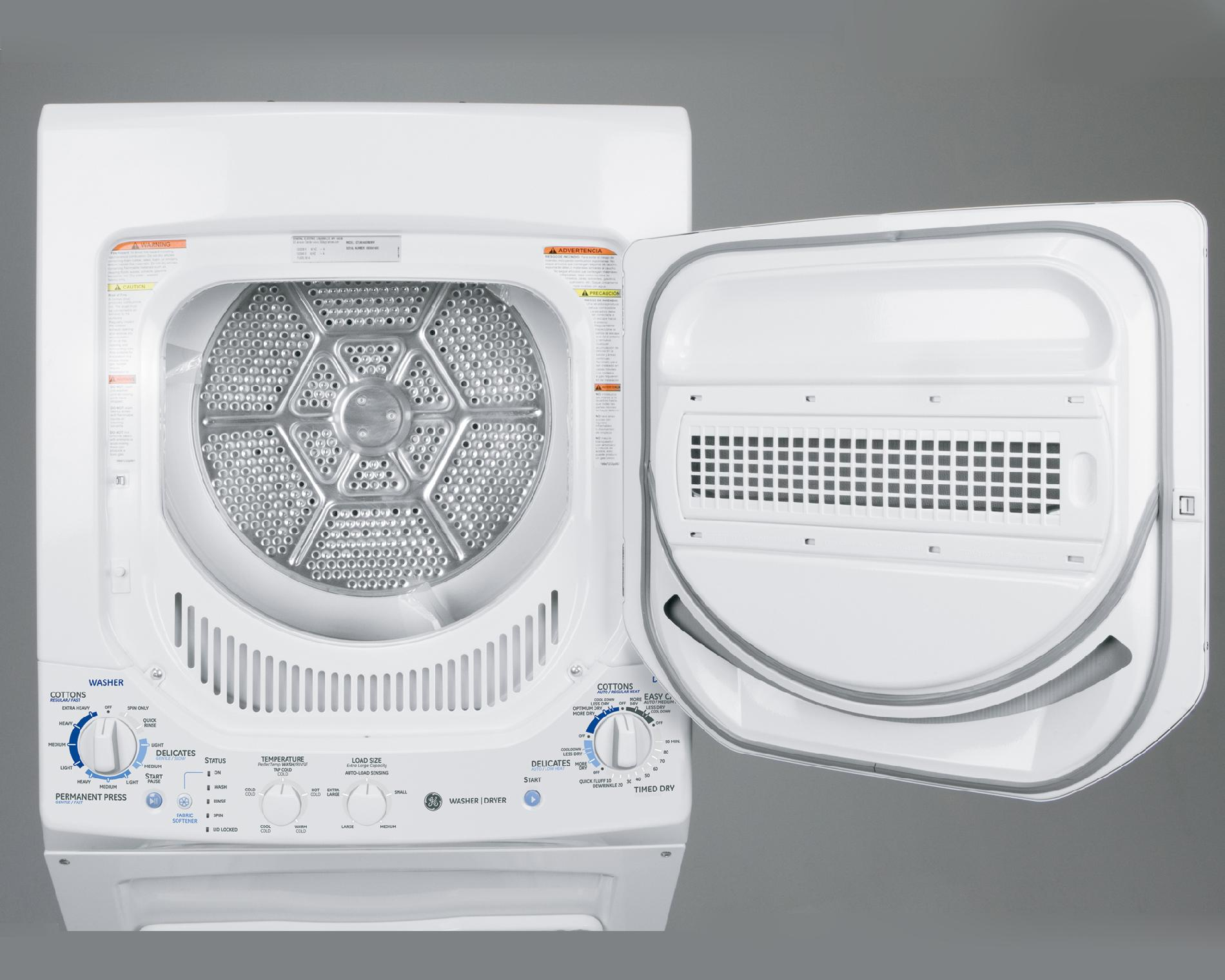 "GE 24"" Laundry Center w/ Gas Dryer"