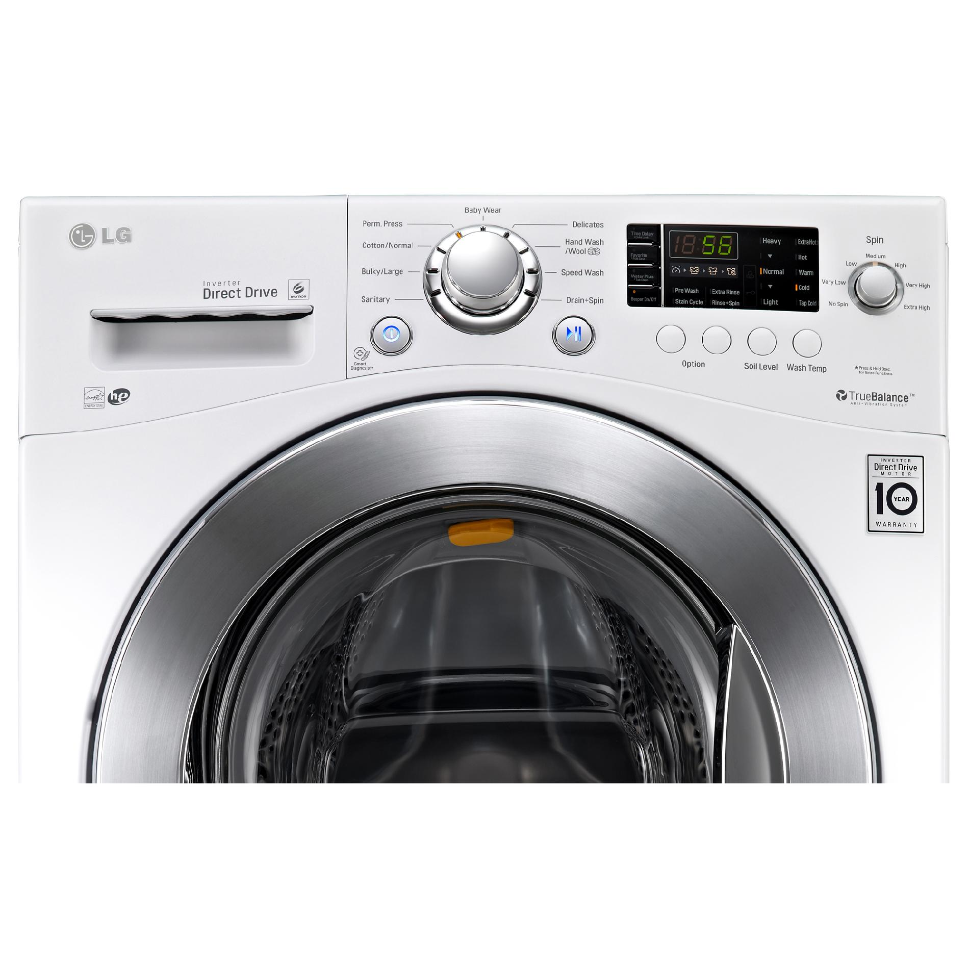 "LG WM1377HW 2.3 cu.ft. Lar 24"" Compact Frontload Washer"
