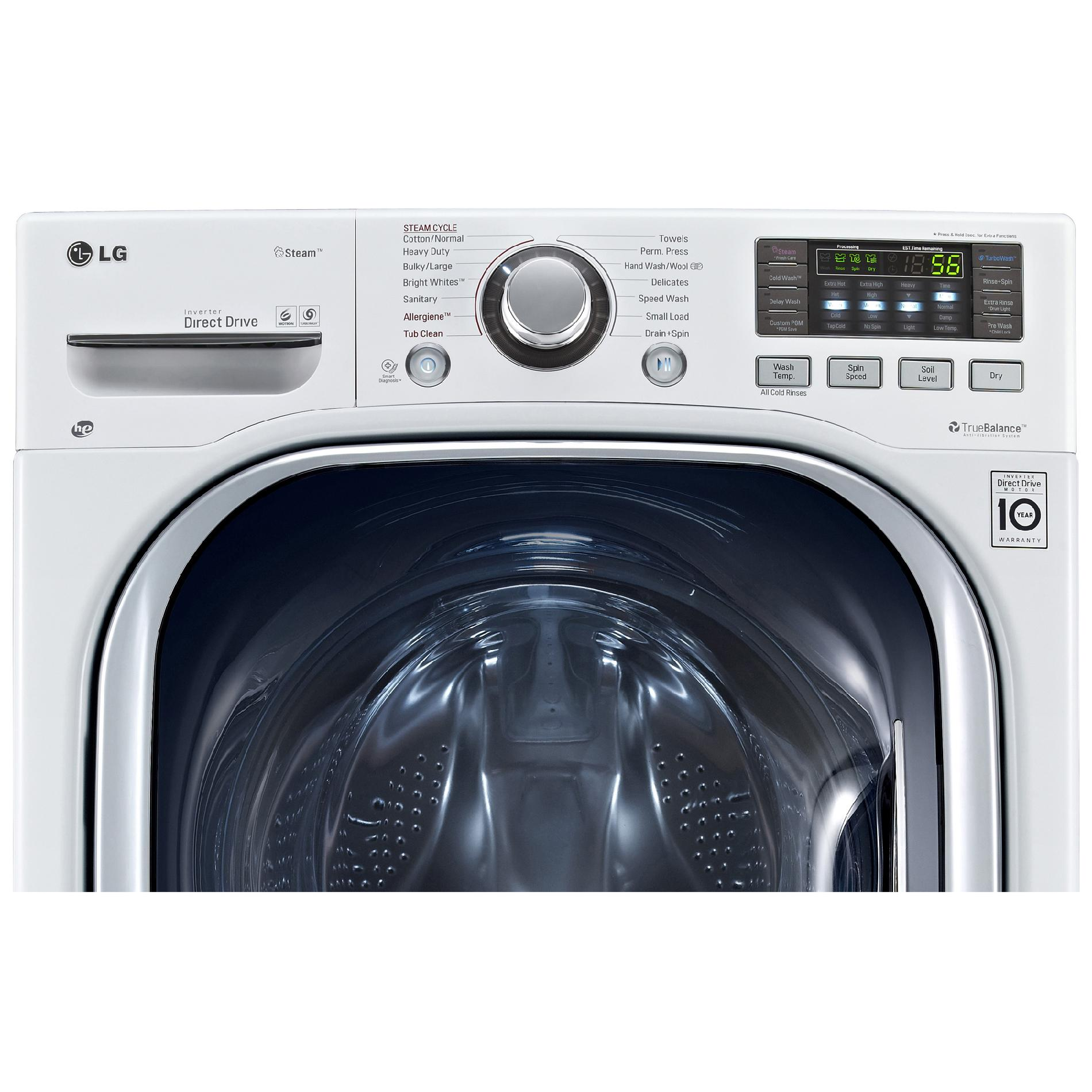 LG WM3997HWA 4.3 cu.ft. Ultra Lar Capacity Front Load Washer / Dryer Combo