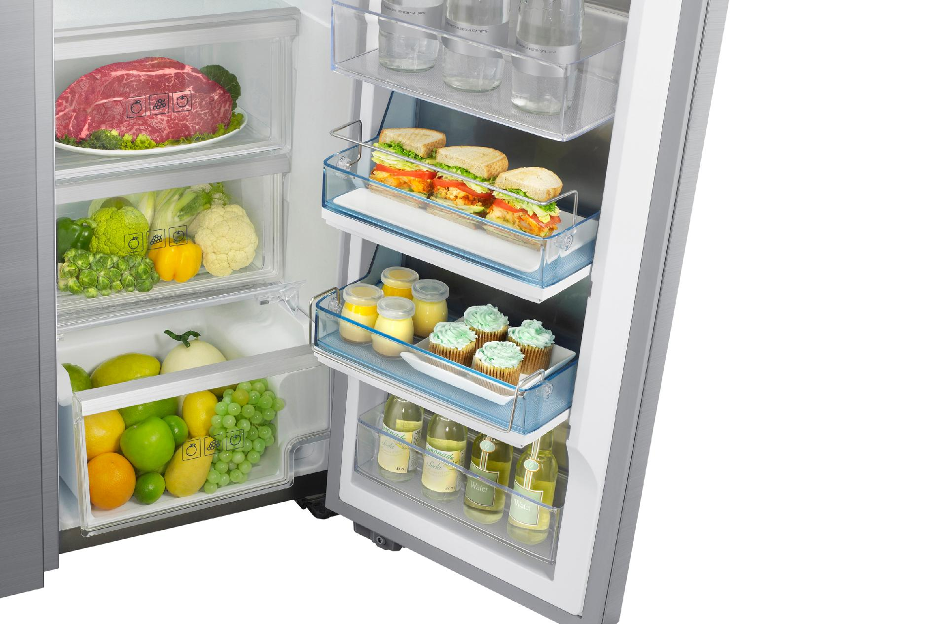 Samsung 22 cu. ft. Counter Depth Side-by-Side Refrigerator - Stainless Steel
