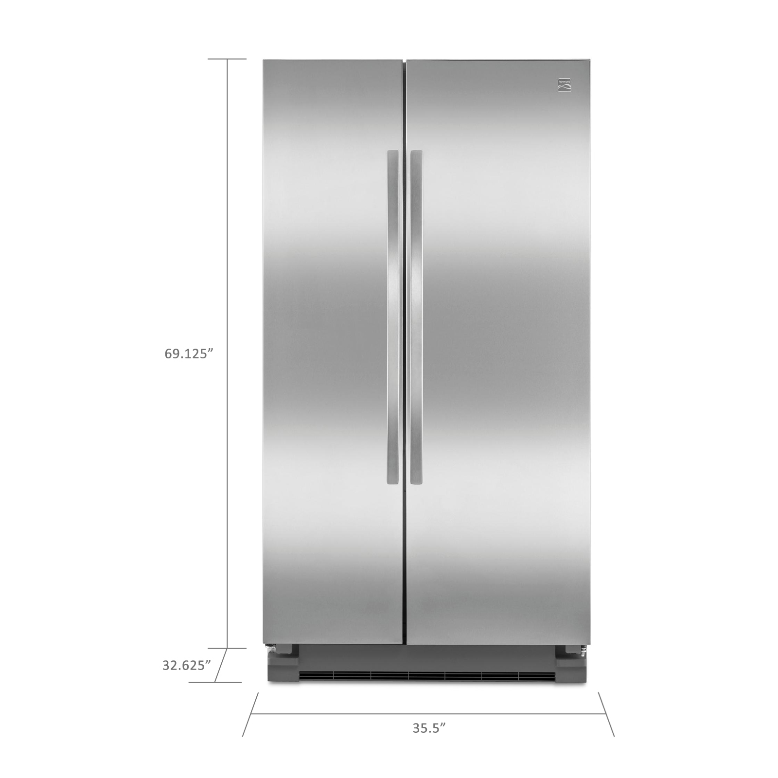 Kenmore 25 cu. ft. Side-by-Side Refrigerator - Stainless Steel