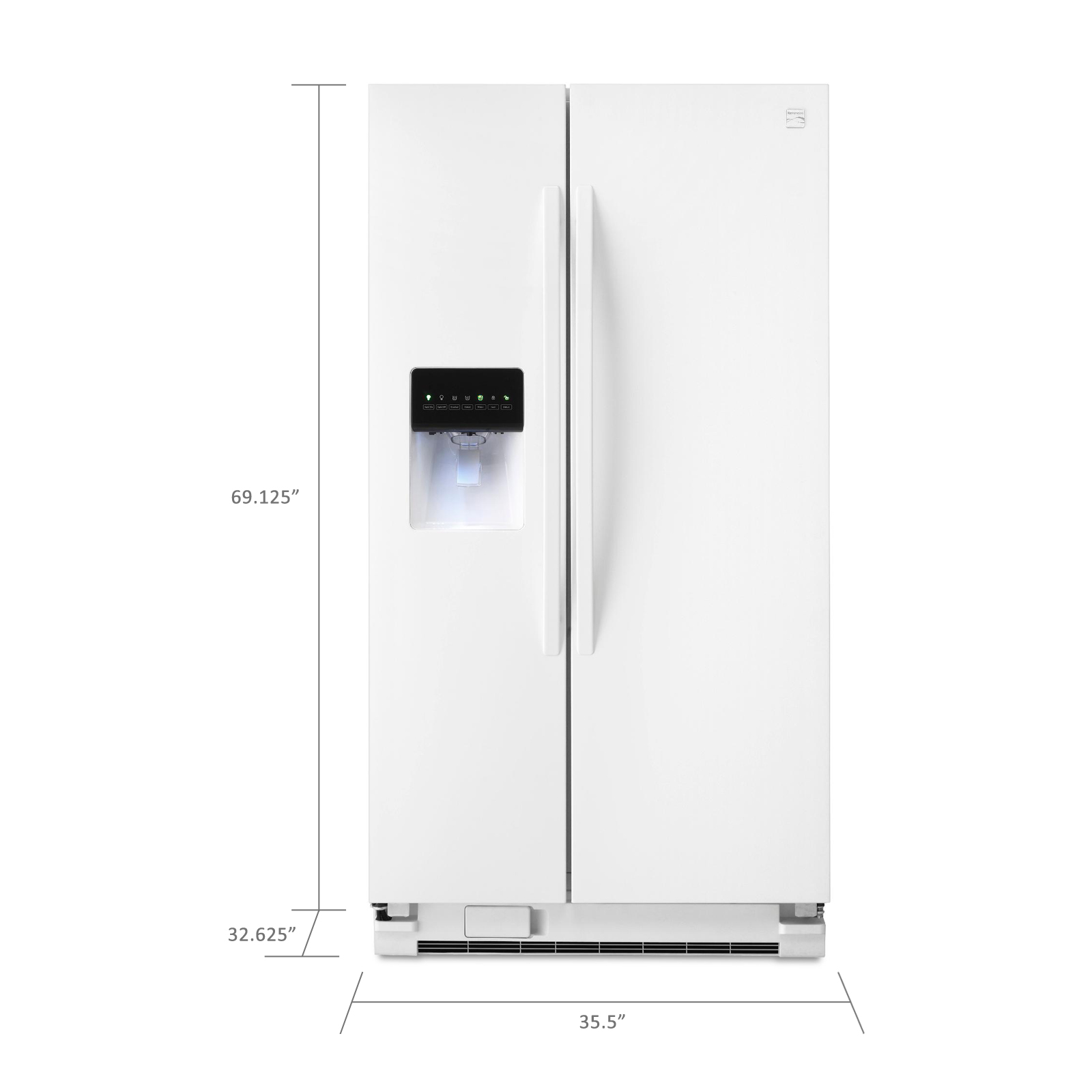 Kenmore 25  cu. ft. Side-by-Side Refrigerator - White
