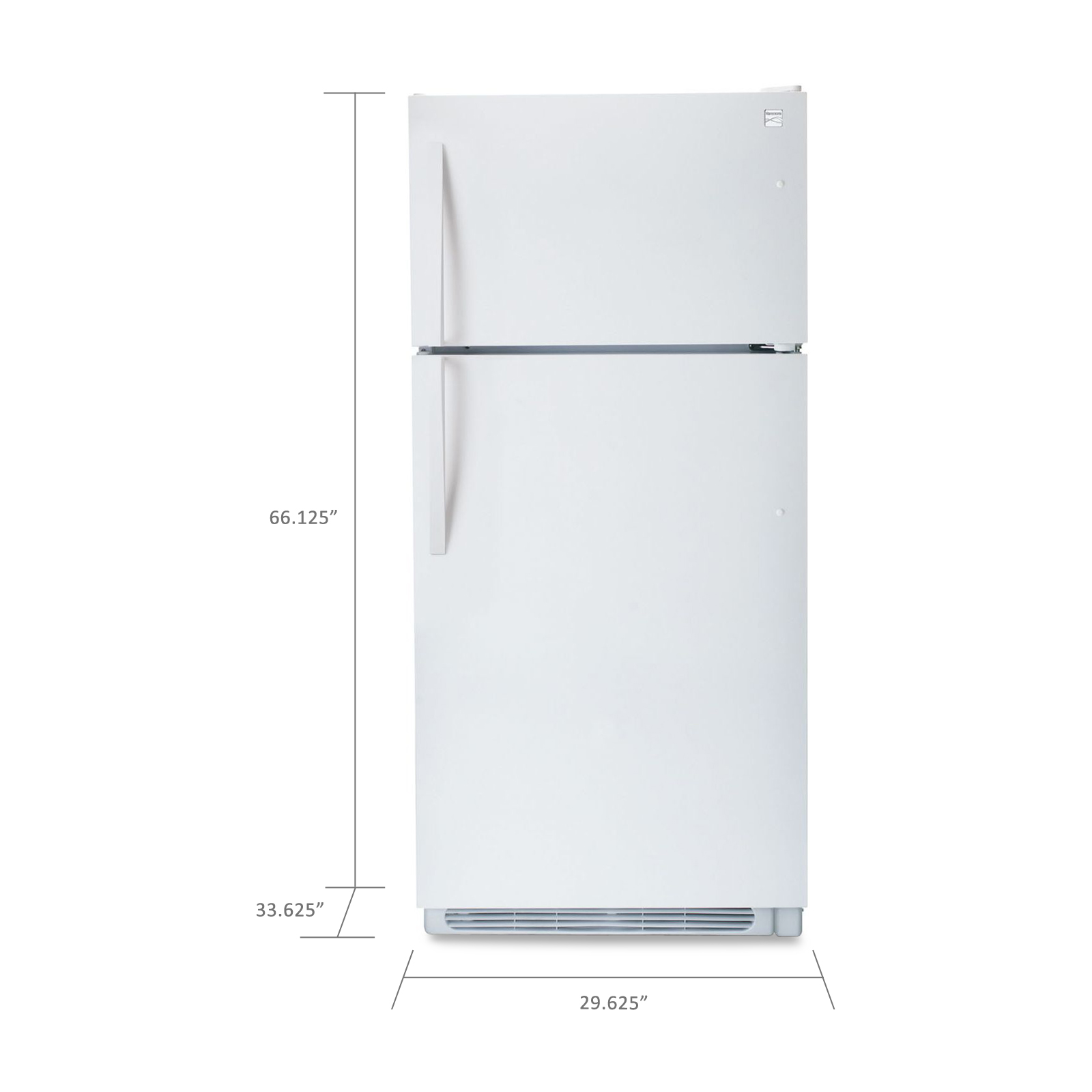 Kenmore 18.2 cu. ft. Top-Freezer Refrigerator w/ Wire Shelves - White
