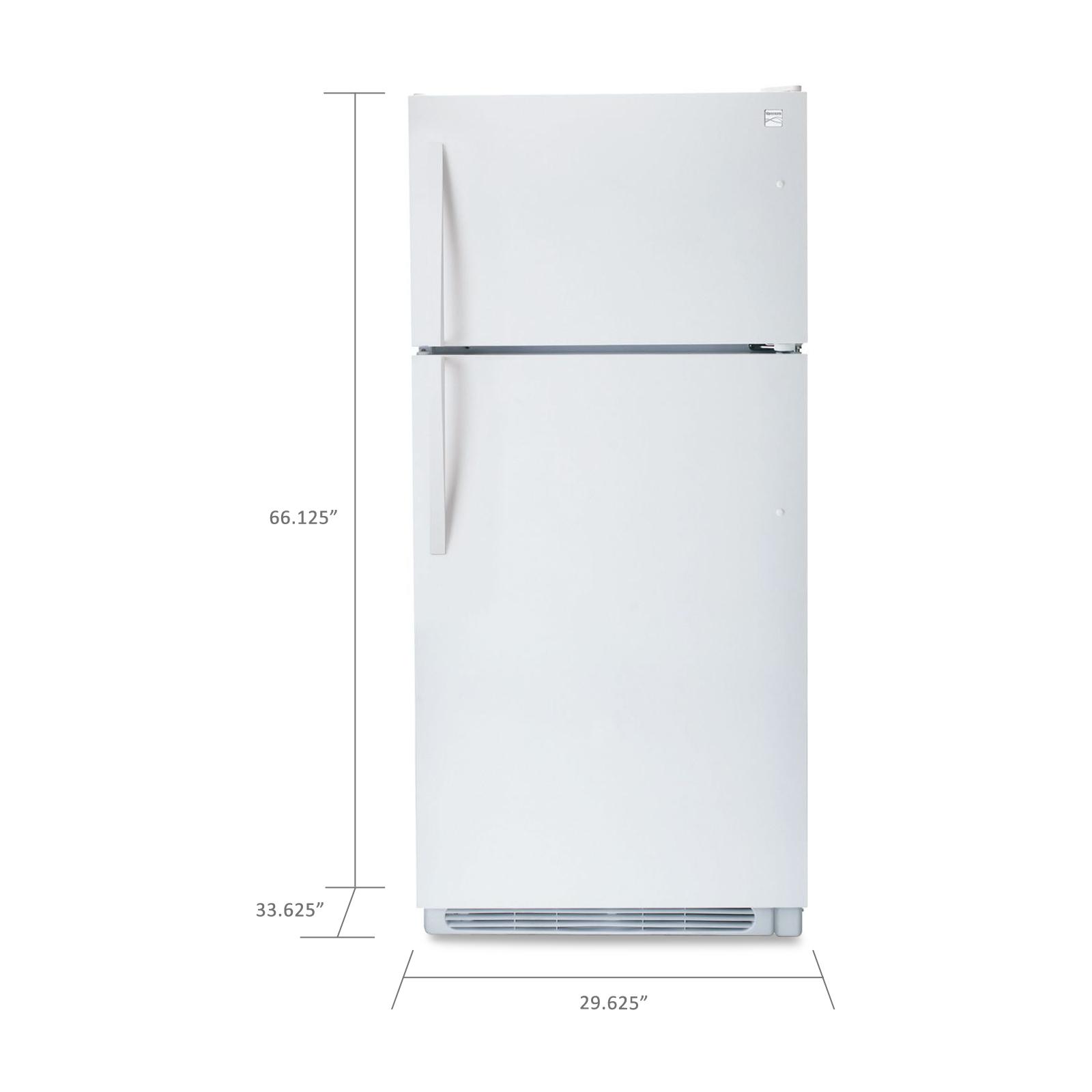 Kenmore 18.2 cu. ft. Top-Freezer Refrigerator w/ Wire Shelves - White
