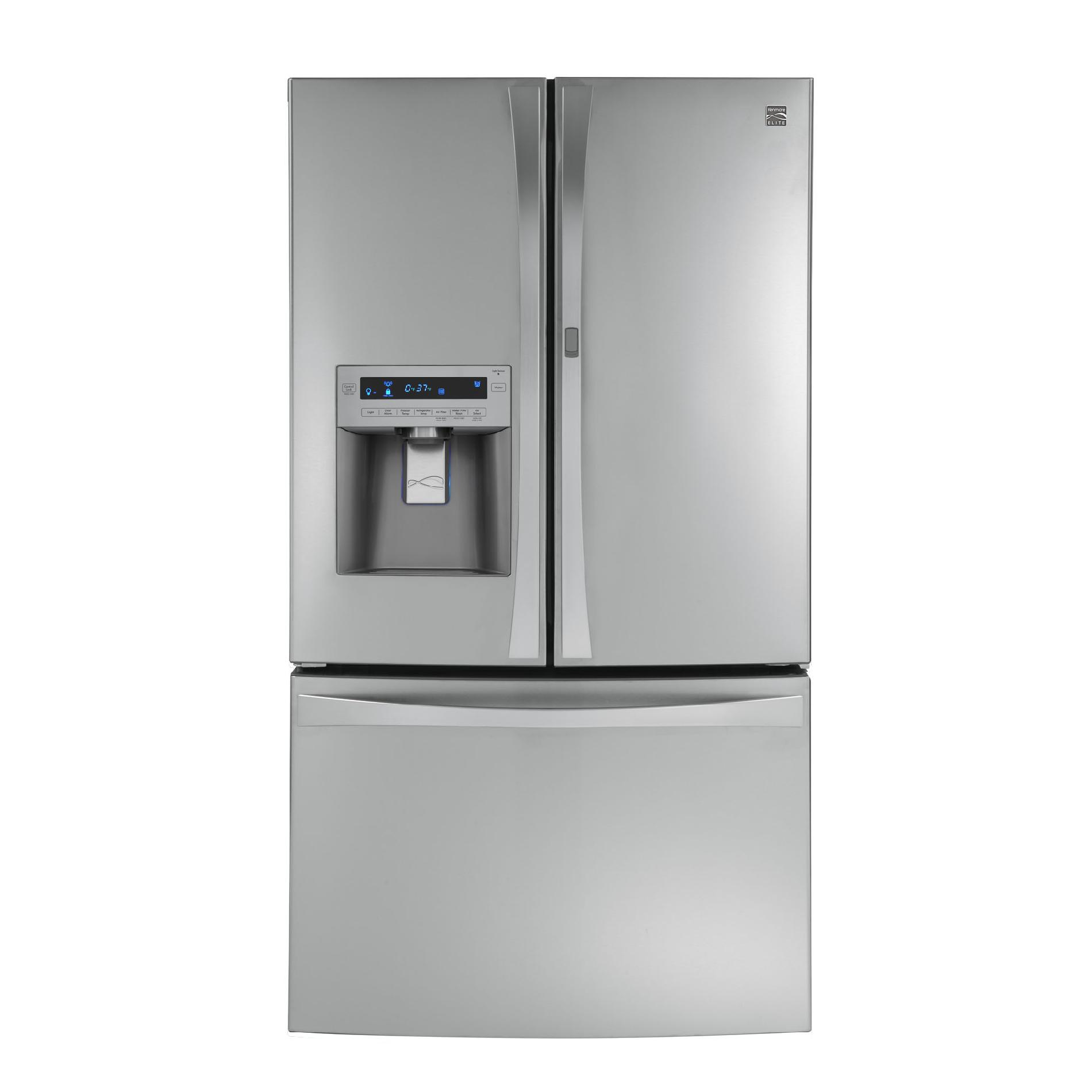 Kenmore Elite 29 cu. ft. Grab-N-Go French Door Bottom-Freezer Refrigerator - Stainless Steel