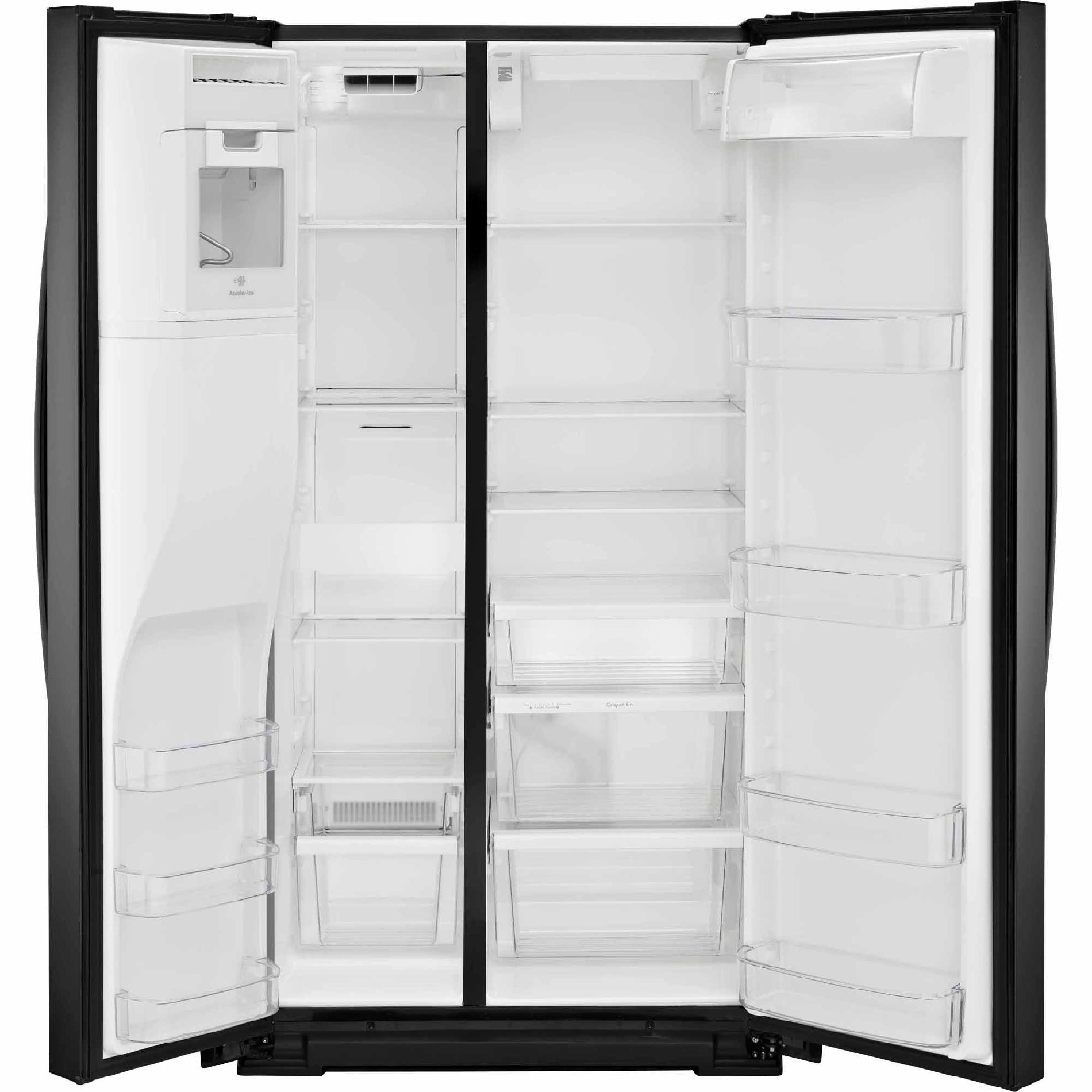 Kenmore 51789 21 cu. ft. Counter-Depth Side-by-Side Refrigerator - Black