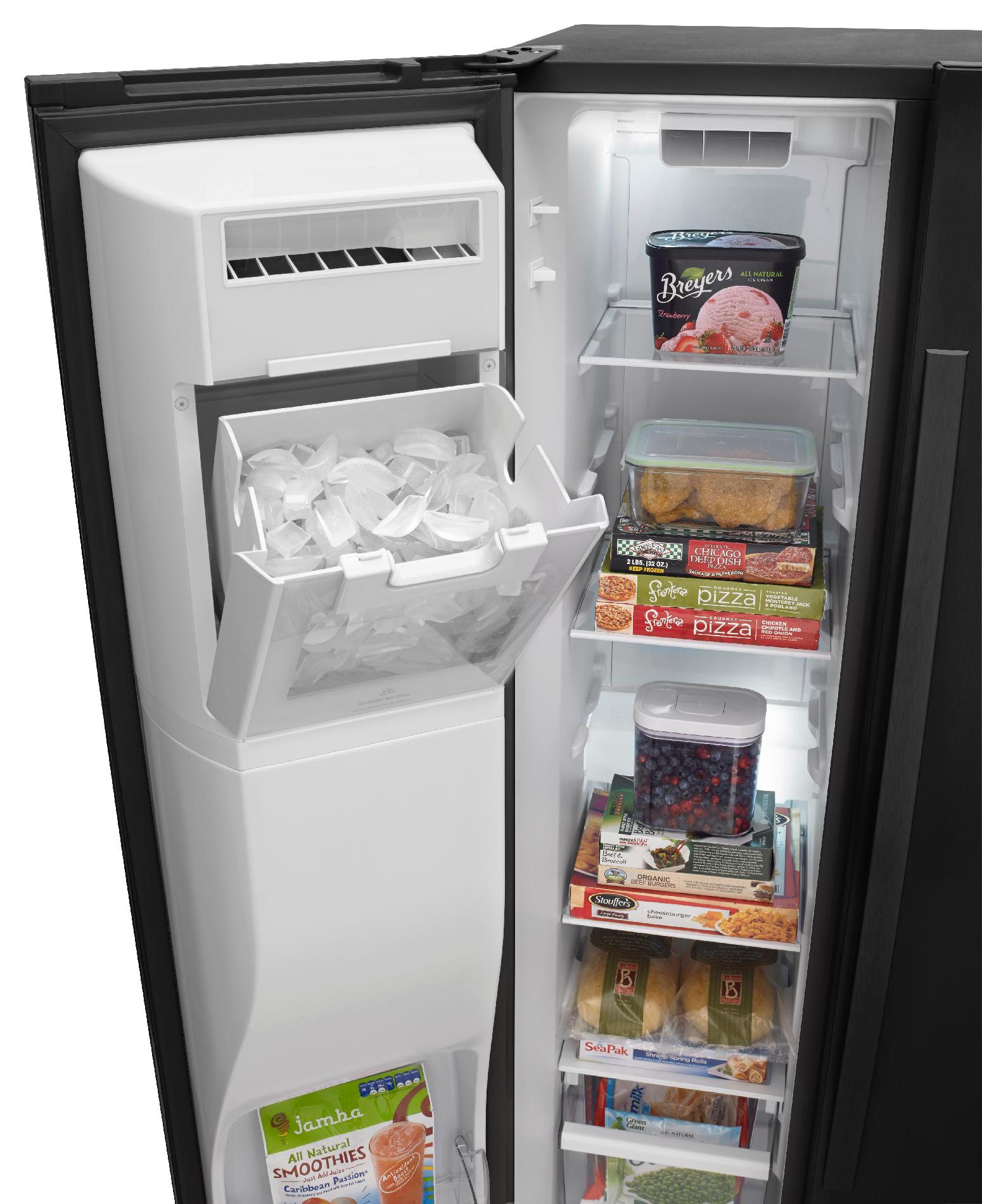 Whirlpool WRS576FIDB 26 cu. ft. Side-by-Side Refrigerator w/ Exterior Controls - Black