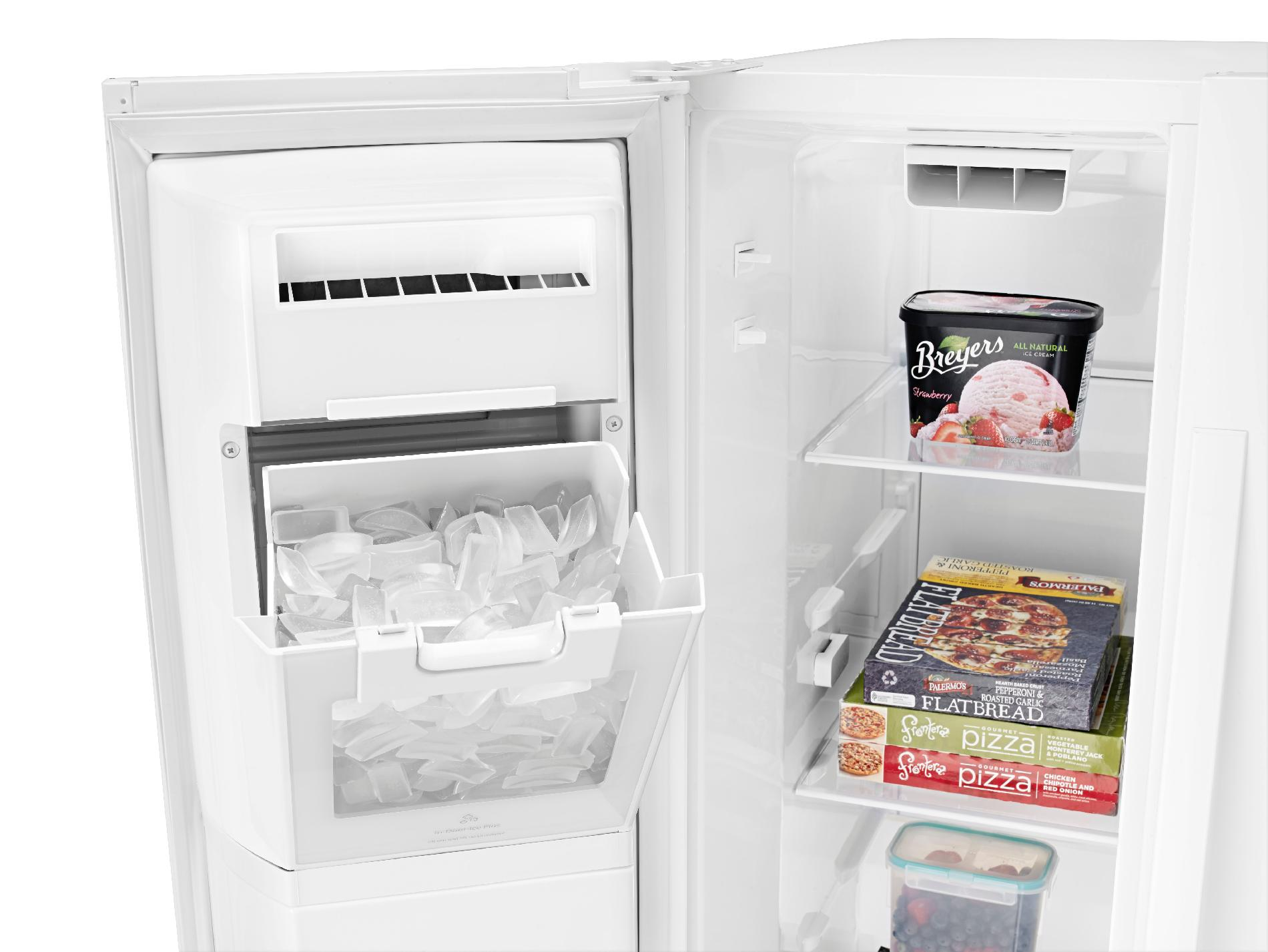 Whirlpool WRS576FIDW 26 cu. ft. Side-by-Side Refrigerator w/ Exterior Controls - White