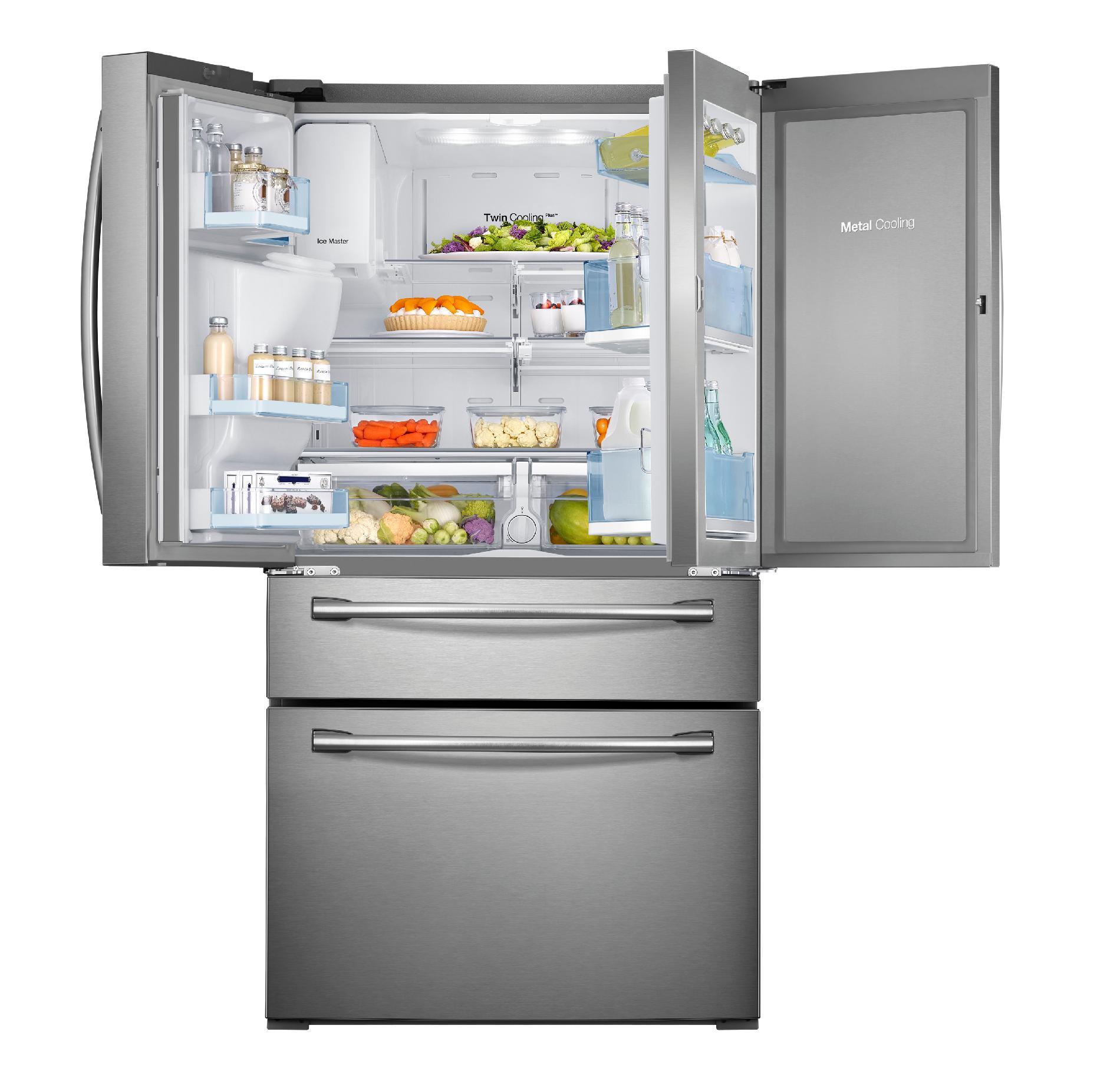 Samsung 30 cu. ft. 4-Door French Door Food ShowCase Refrigerator - Stainless Steel