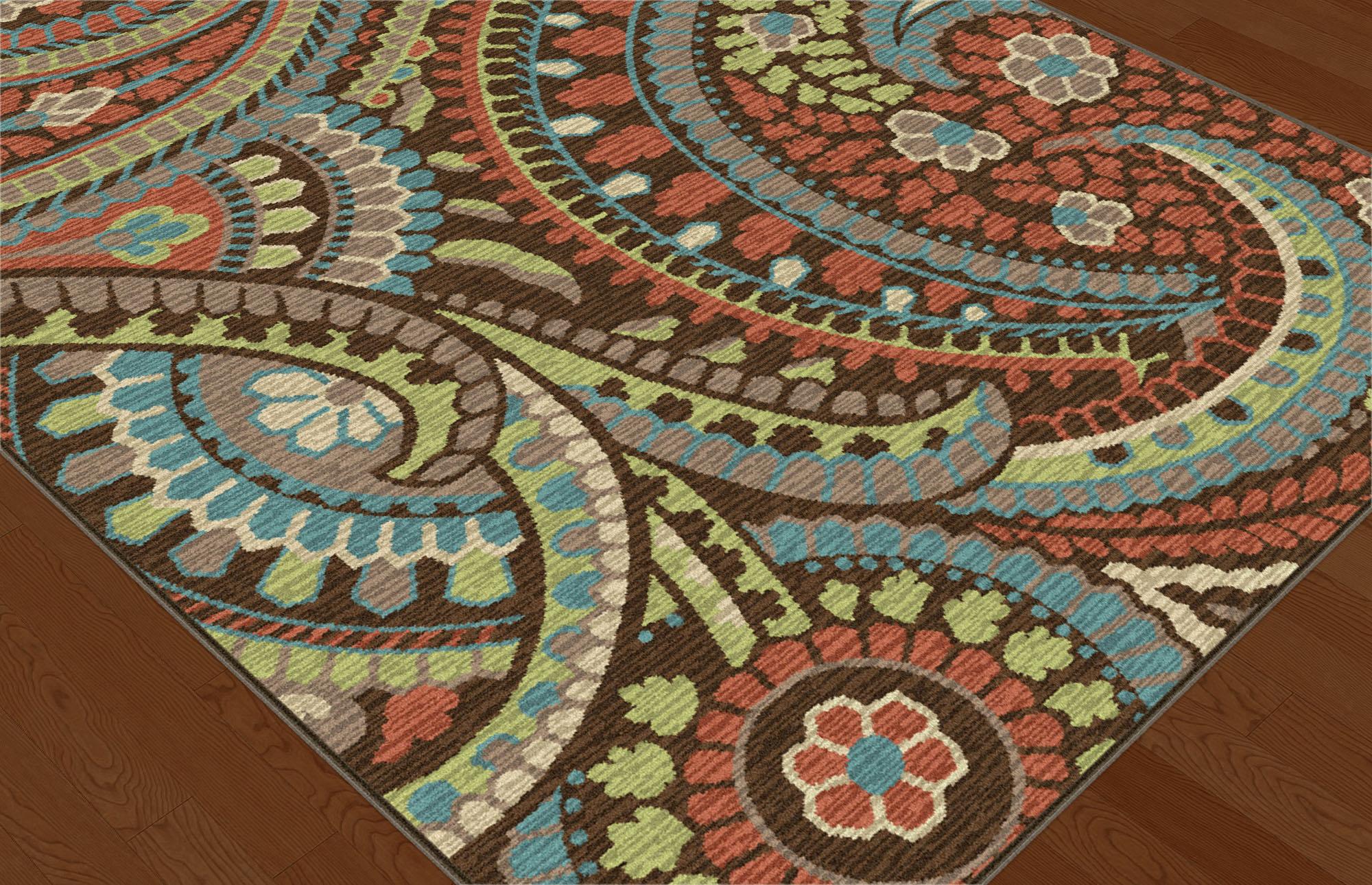 Tayse Rugs Deco Tonya Paisley Area Rug - 5'3'' Round