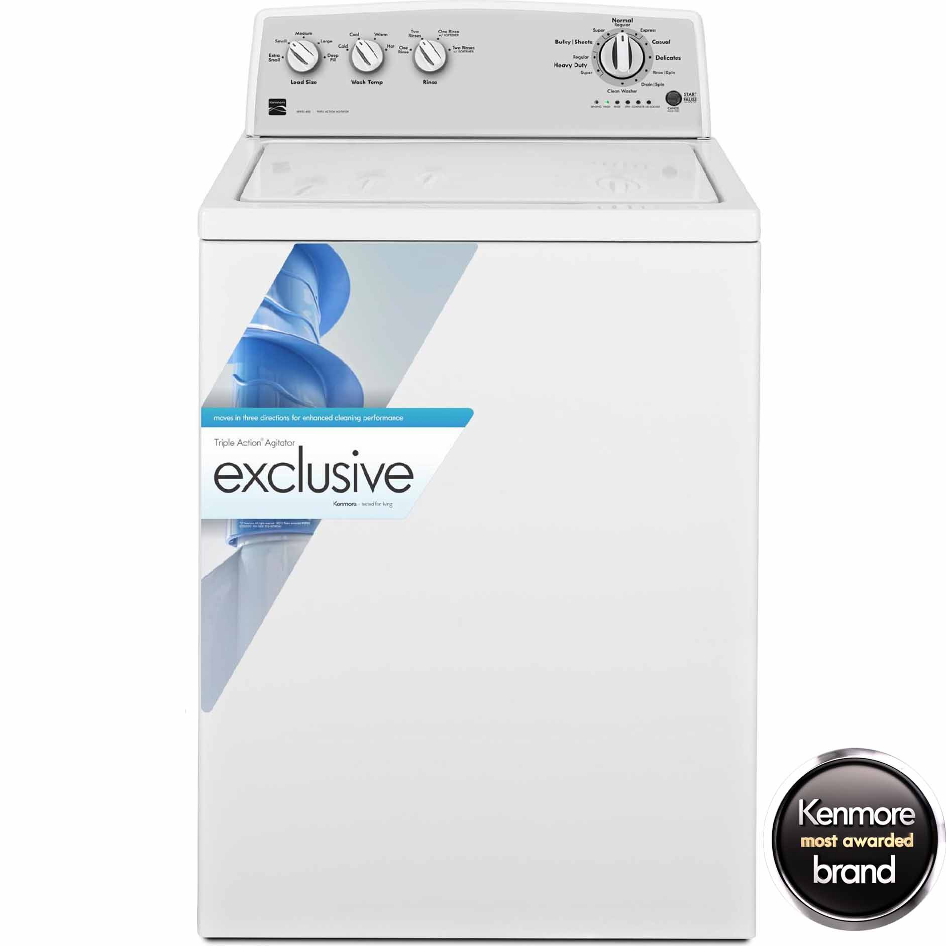 Kenmore 23102 3.6 cu. ft. Top-Load Washer w/ Clean Washer Cycle - White