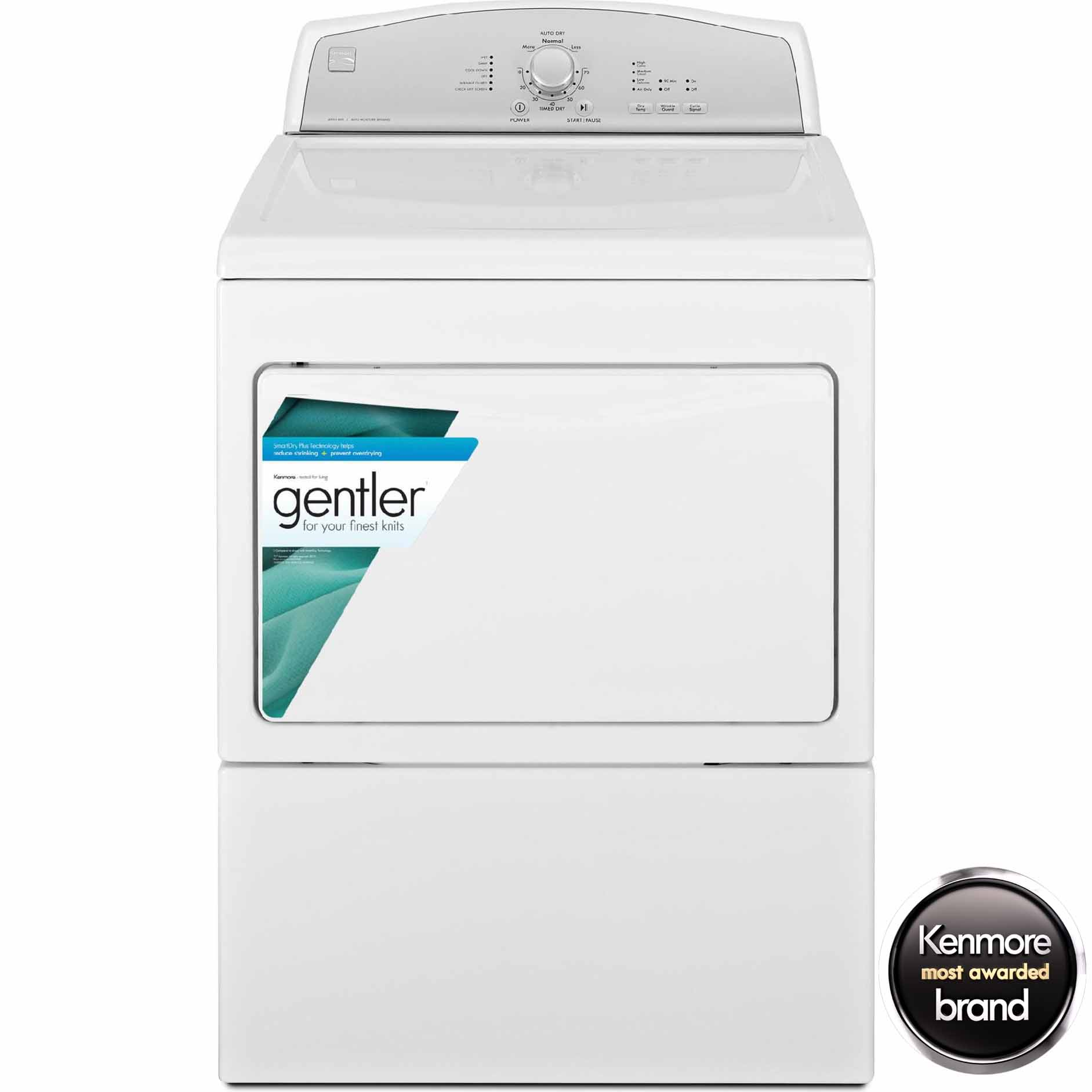 Kenmore 7.5 cu. ft. Electric Dryer w/ Heated Dryer Rack - White