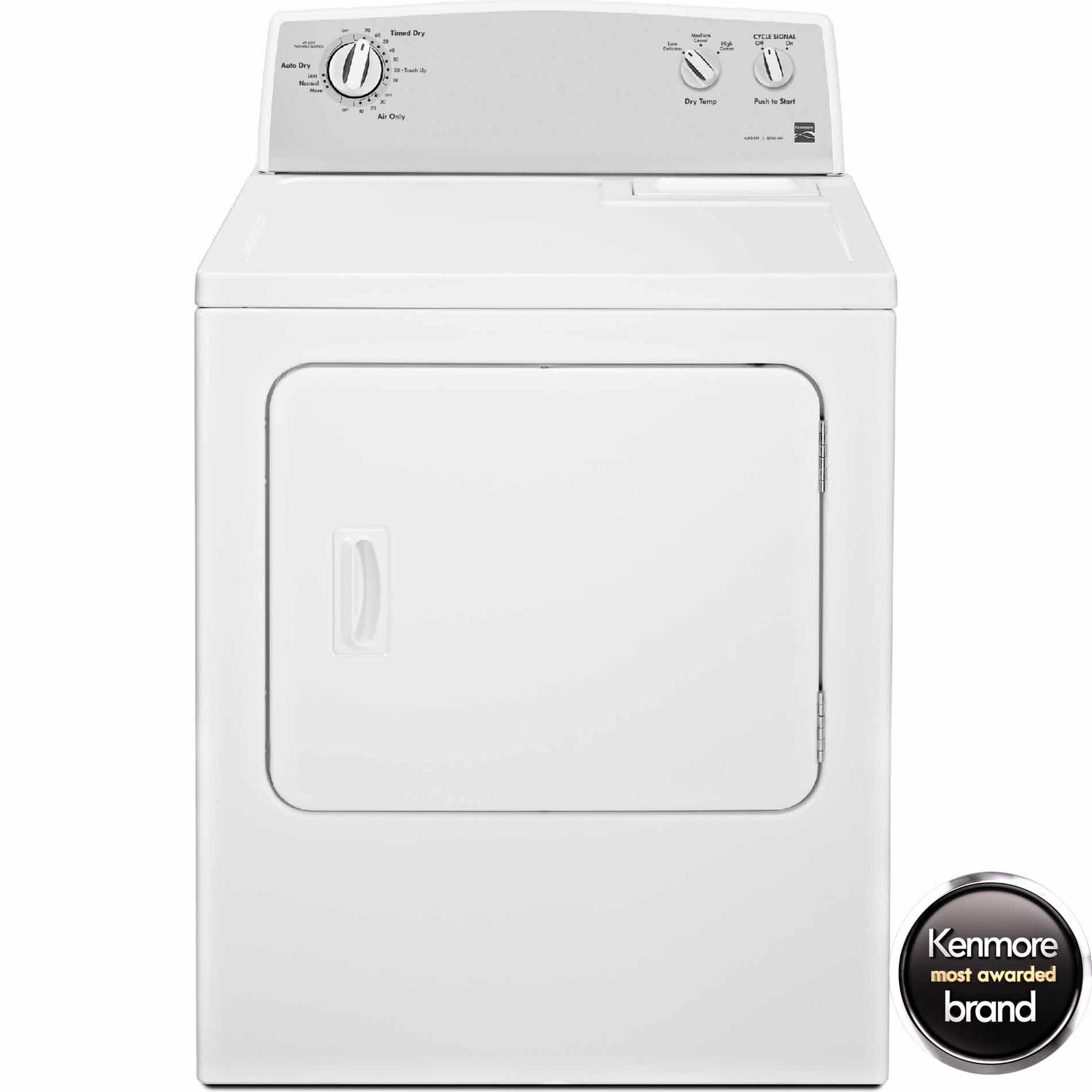 Kenmore 7.0 cu. ft. Electric Dryer w/ Auto Dry - White