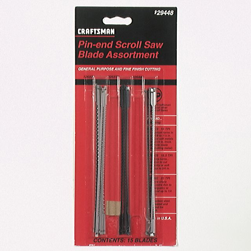 Craftsman Pin End Scroll Saw Blade Assortment Pack(Repl 26889)