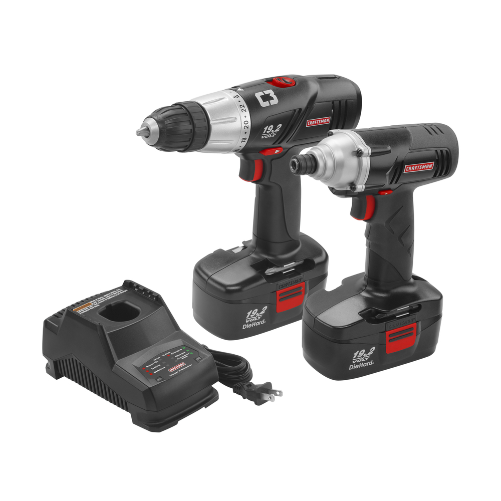 Craftsman 19.2 Volt C3 Combo Kit, Drill/Driver & Impact Driver