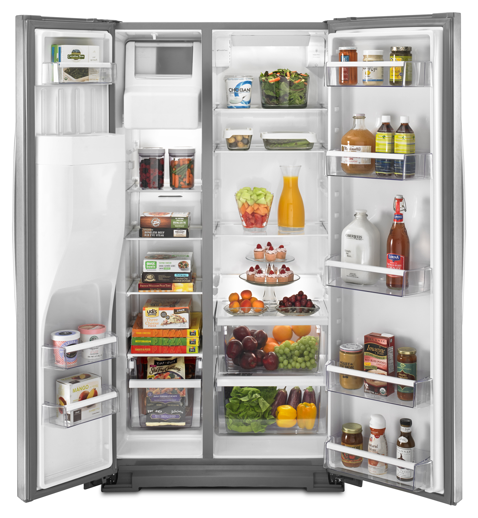 Whirlpool 21 cu. ft. Counter-Depth Side-by-Side Refrigerator - Stainless Steel