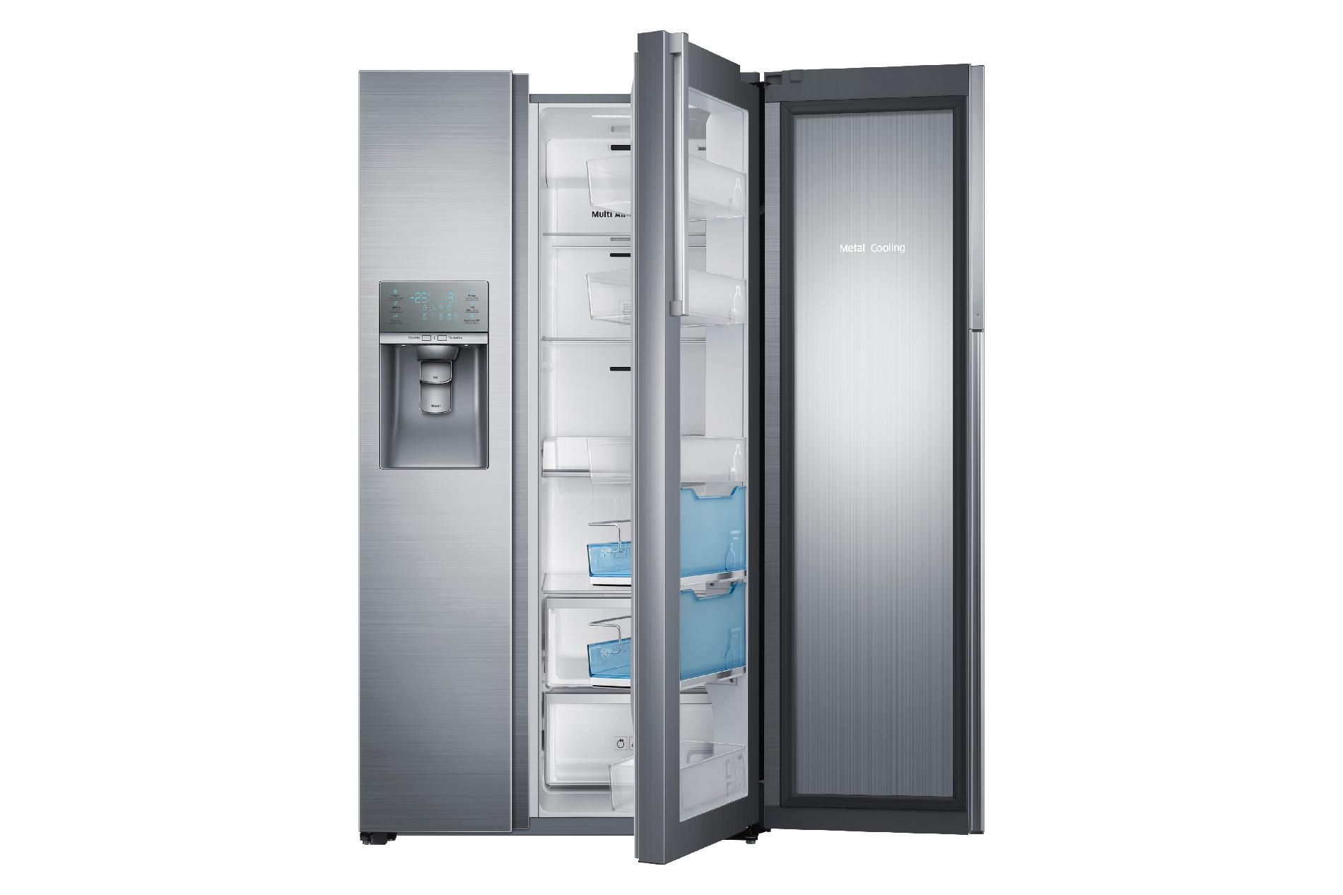 Samsung 29 cu. ft. Side-by-Side Food ShowCase Refrigerator - Stainless Steel