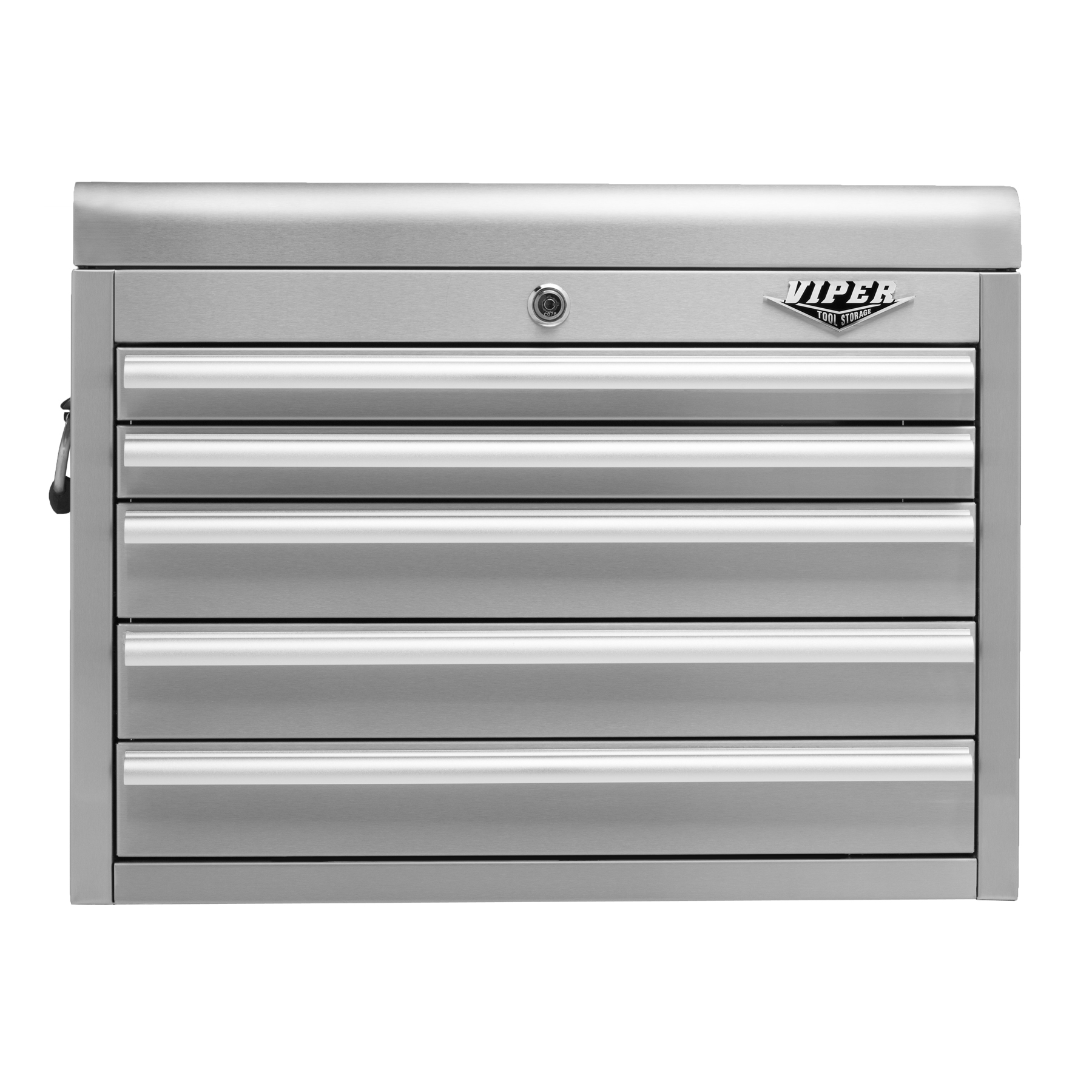 Viper Tool Storage 26-inch 5 Drawer 304 Stainless Steel Top Chest