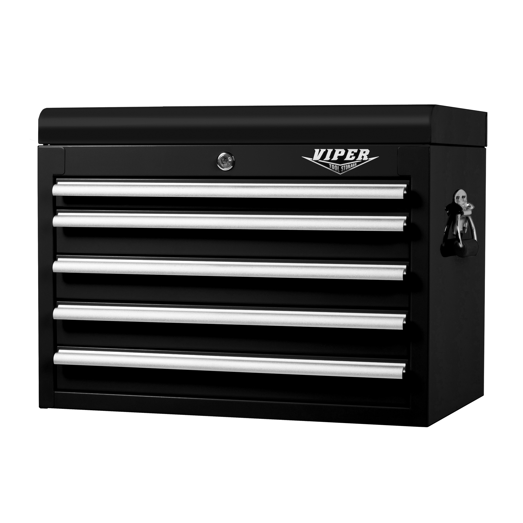 "Viper Tool Storage 26"" 5 Drawer 18G Steel Top Chest, Black"