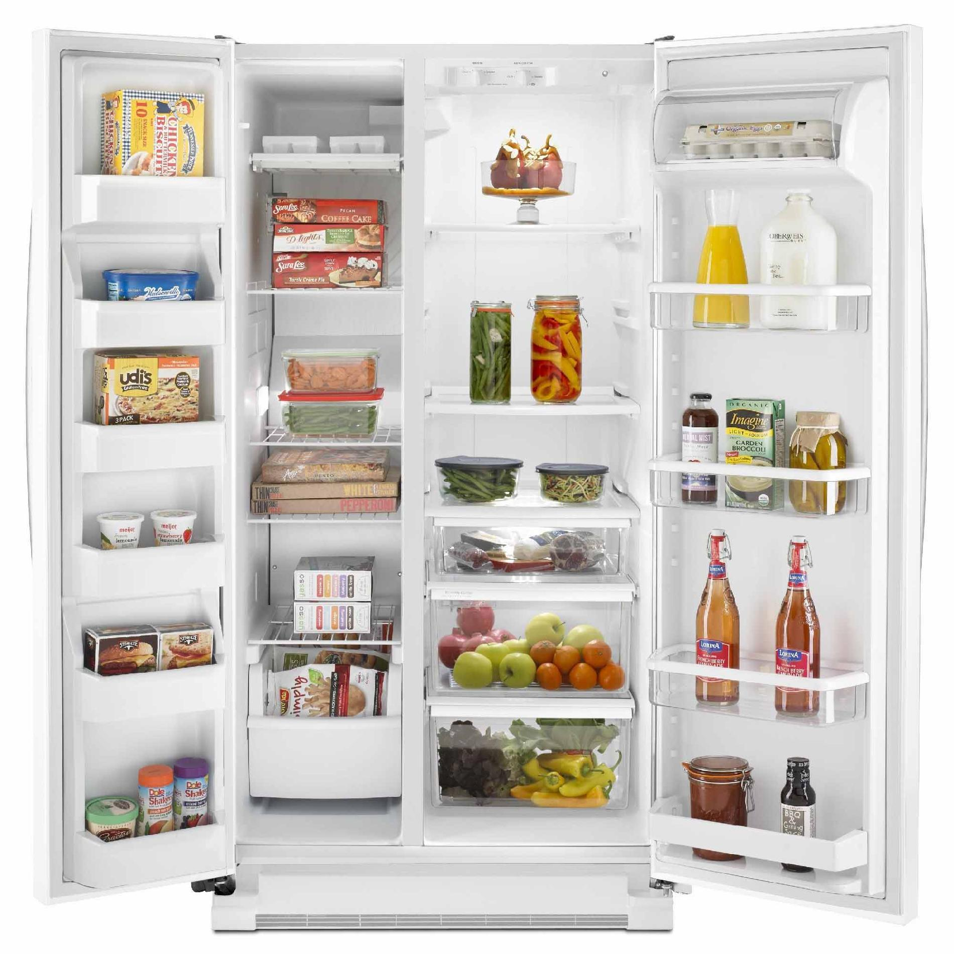 Whirlpool WRS325FNAH 24.9 cu. ft. Side-by-Side Refrigerator w/ Accu-Chill™ Temperature Management - White