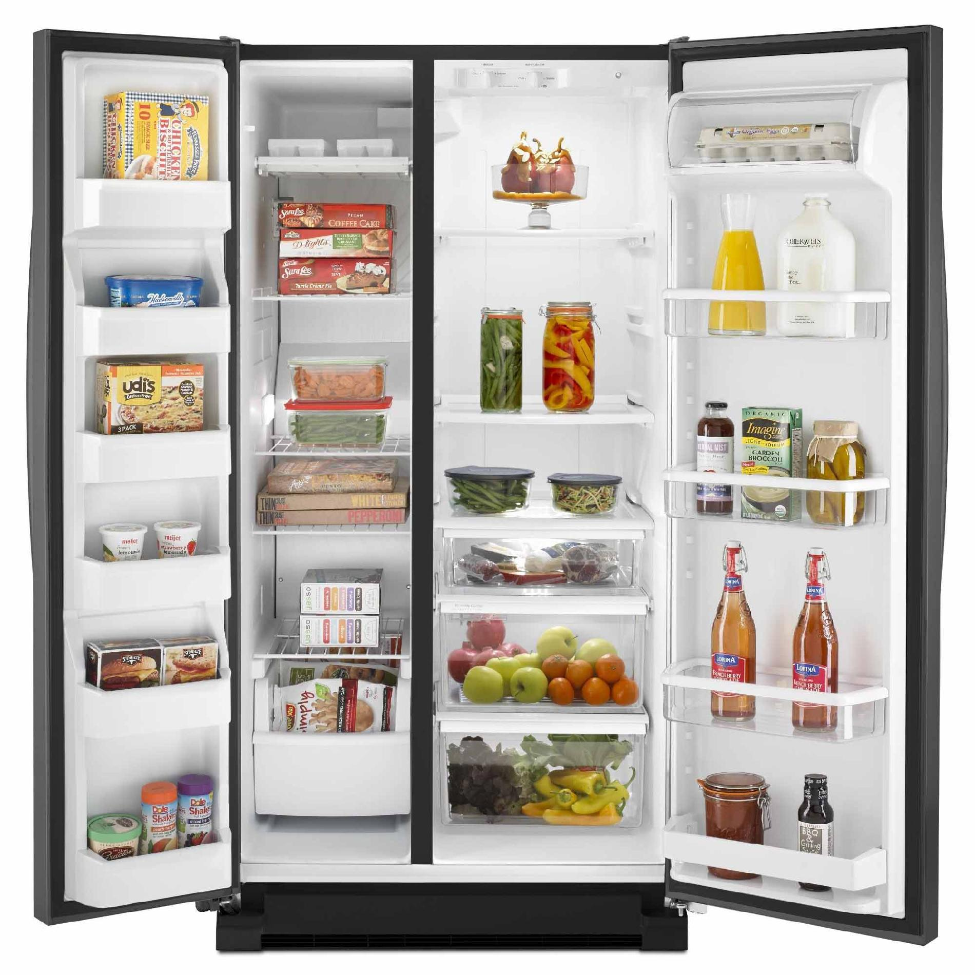 Whirlpool WRS325FNAE 24.9 cu. ft. Side-by-Side Refrigerator w/ Accu-Chill™ Temperature Management - Black