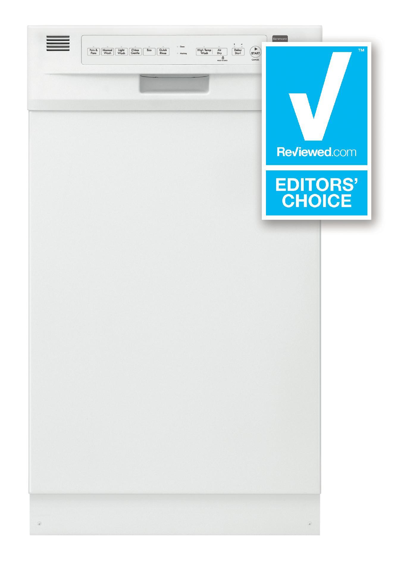 "Kenmore 18"" Built-In Dishwasher - White"
