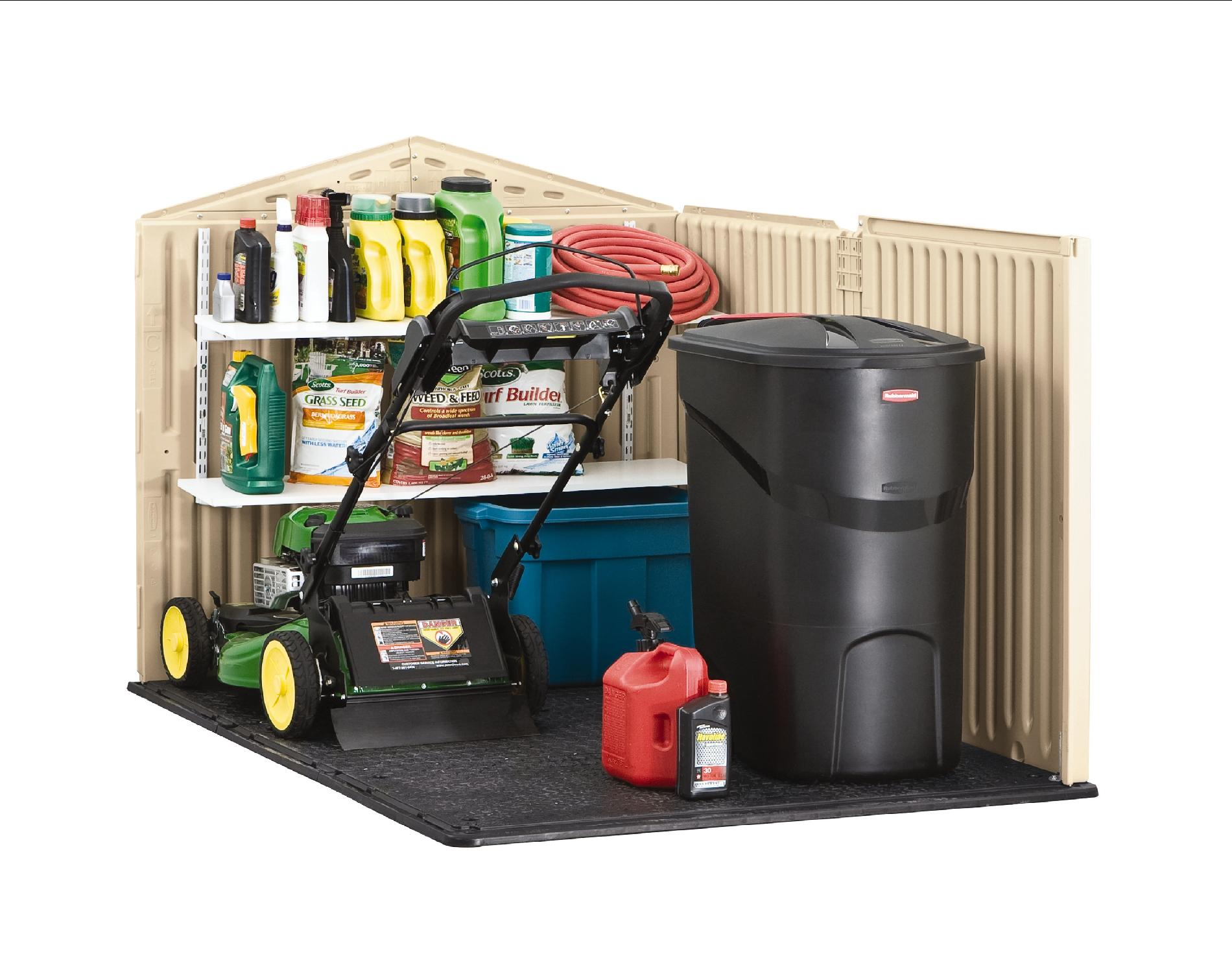 """Rubbermaid® Outdoor Resin Slide-Lid Storage Shed, 4'7"""" x 6'4"""" x 4'4"""""""