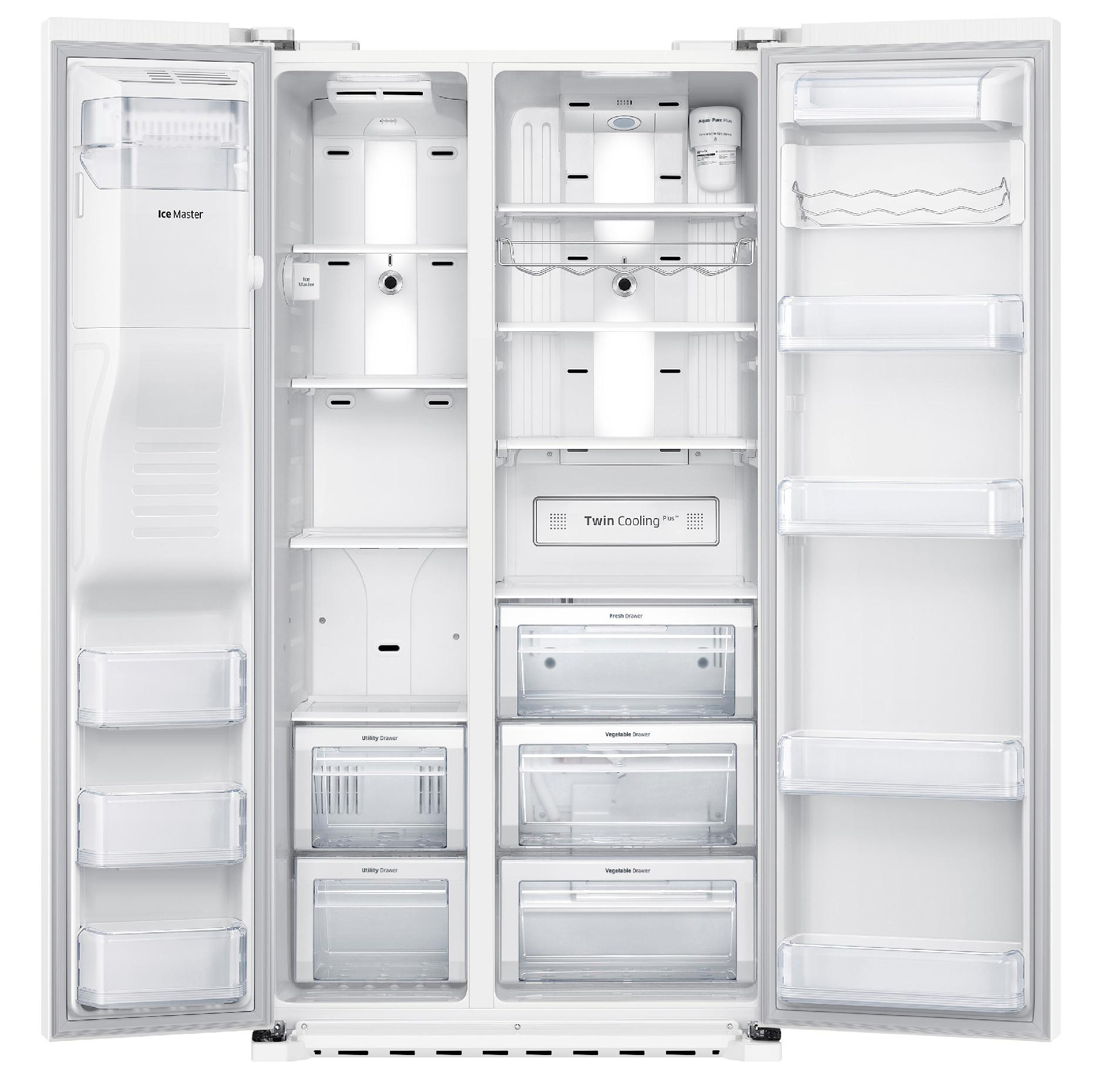 Samsung 22 cu. ft. Counter Depth Side-by-Side Refrigerator - White
