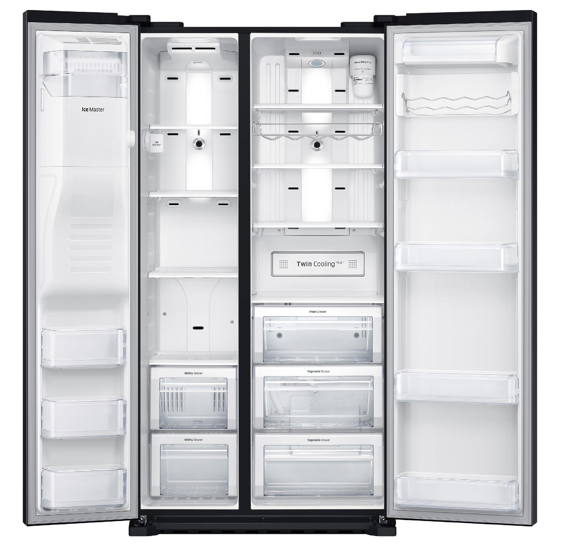 Samsung 22 cu. ft. Counter Depth Side-by-Side Refrigerator - Black
