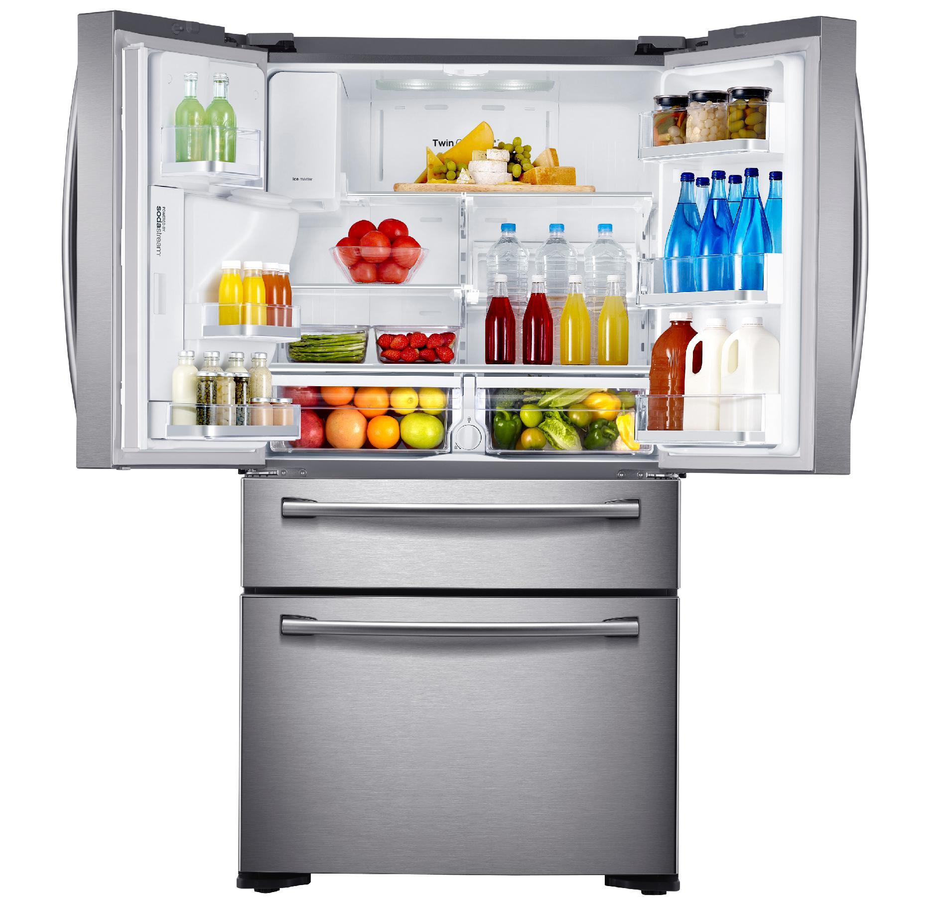 Samsung 23 cu. ft. Counter-Depth French Door Refrigerator w/ Sparkling Water Dispenser - Stainless Steel