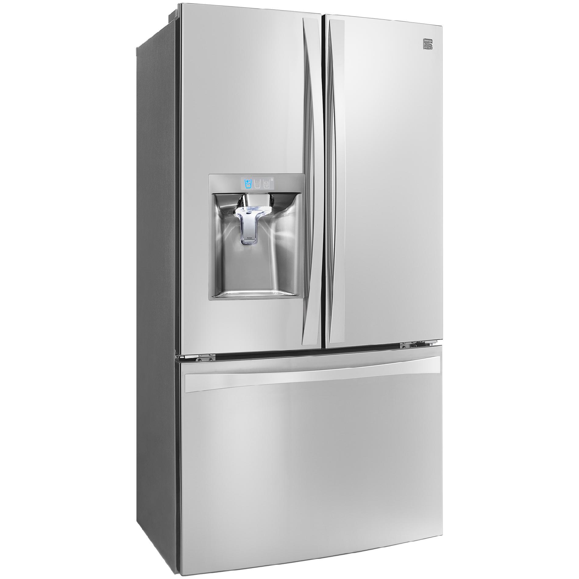 Kenmore Elite 74043 23.7 cu. ft. French Door Bottom-Freezer Refrigerator—Stainless Steel