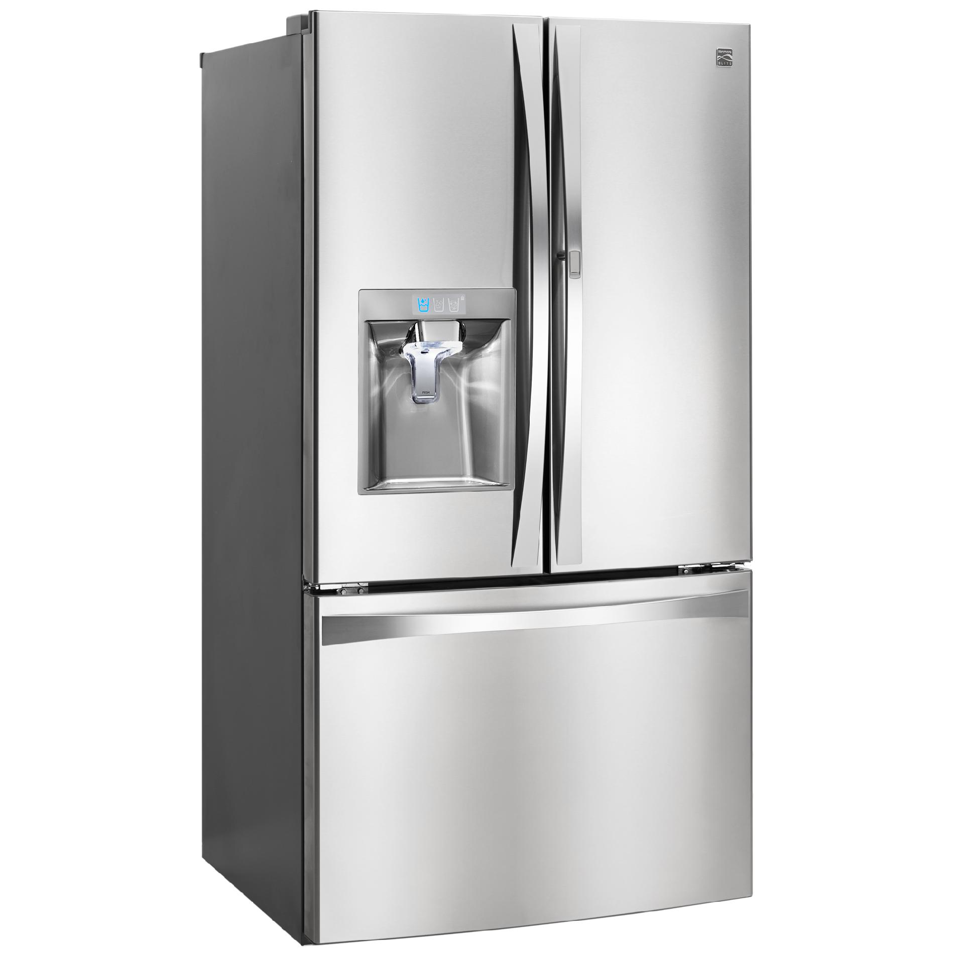 Kenmore Elite 74033 29.6 cu. ft. French Door Bottom-Freezer Refrigerator w/Grab-N-Go™ Door