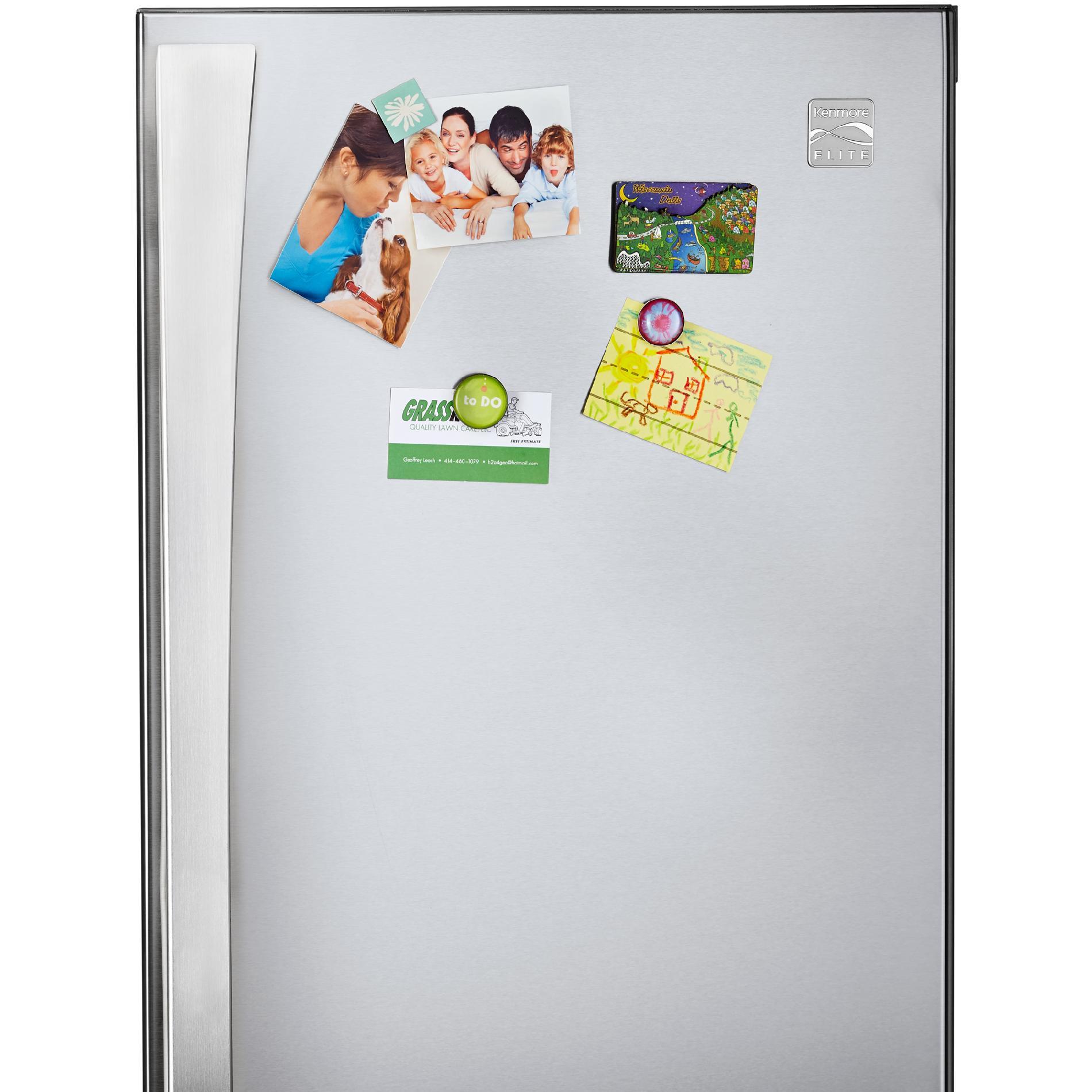 Kenmore Elite 74025 29.8 cu. ft. French Door Bottom-Freezer Refrigerator—Active Finish