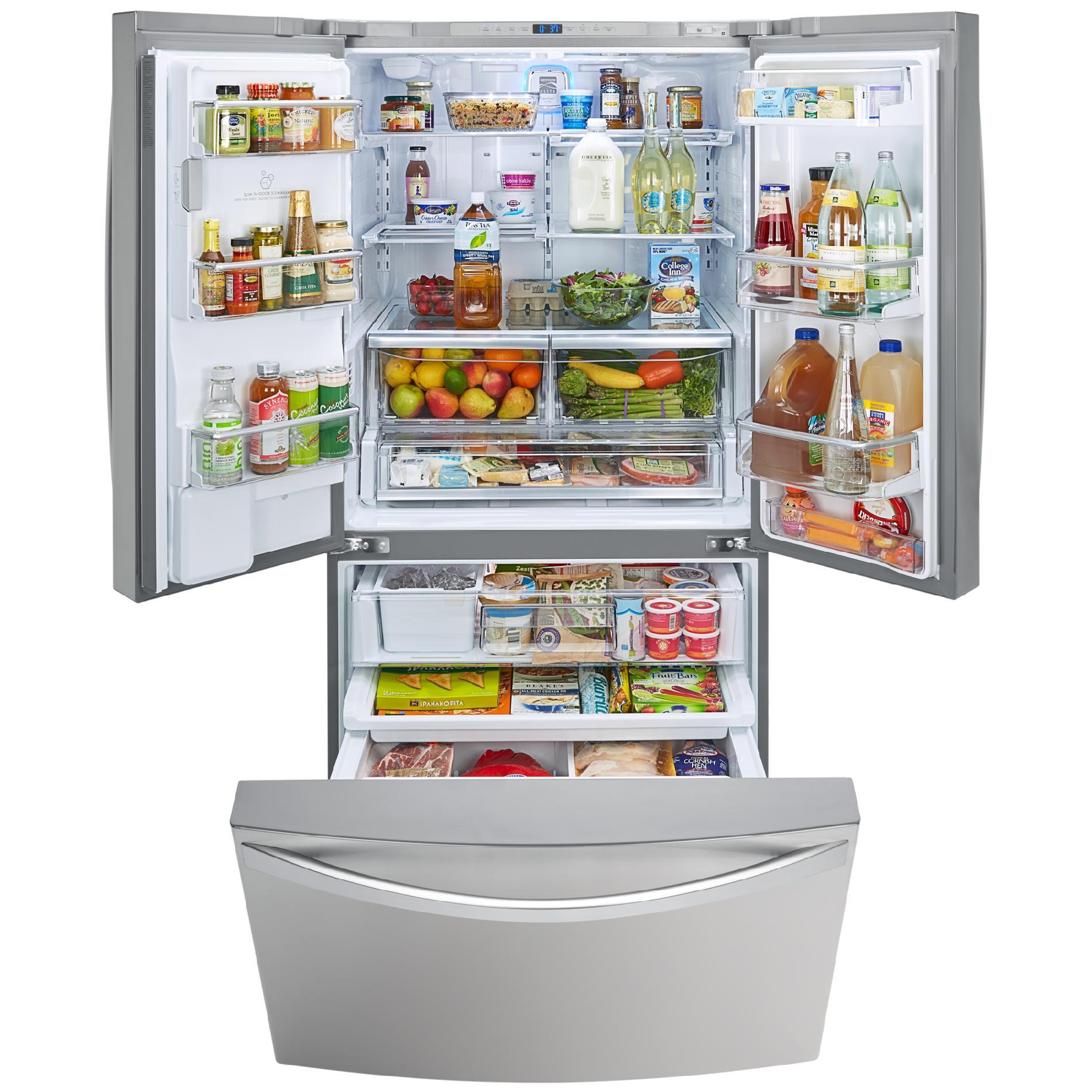 Kenmore Elite 74023 29.8 cu. ft. French Door Bottom-Freezer Refrigerator—Stainless Steel