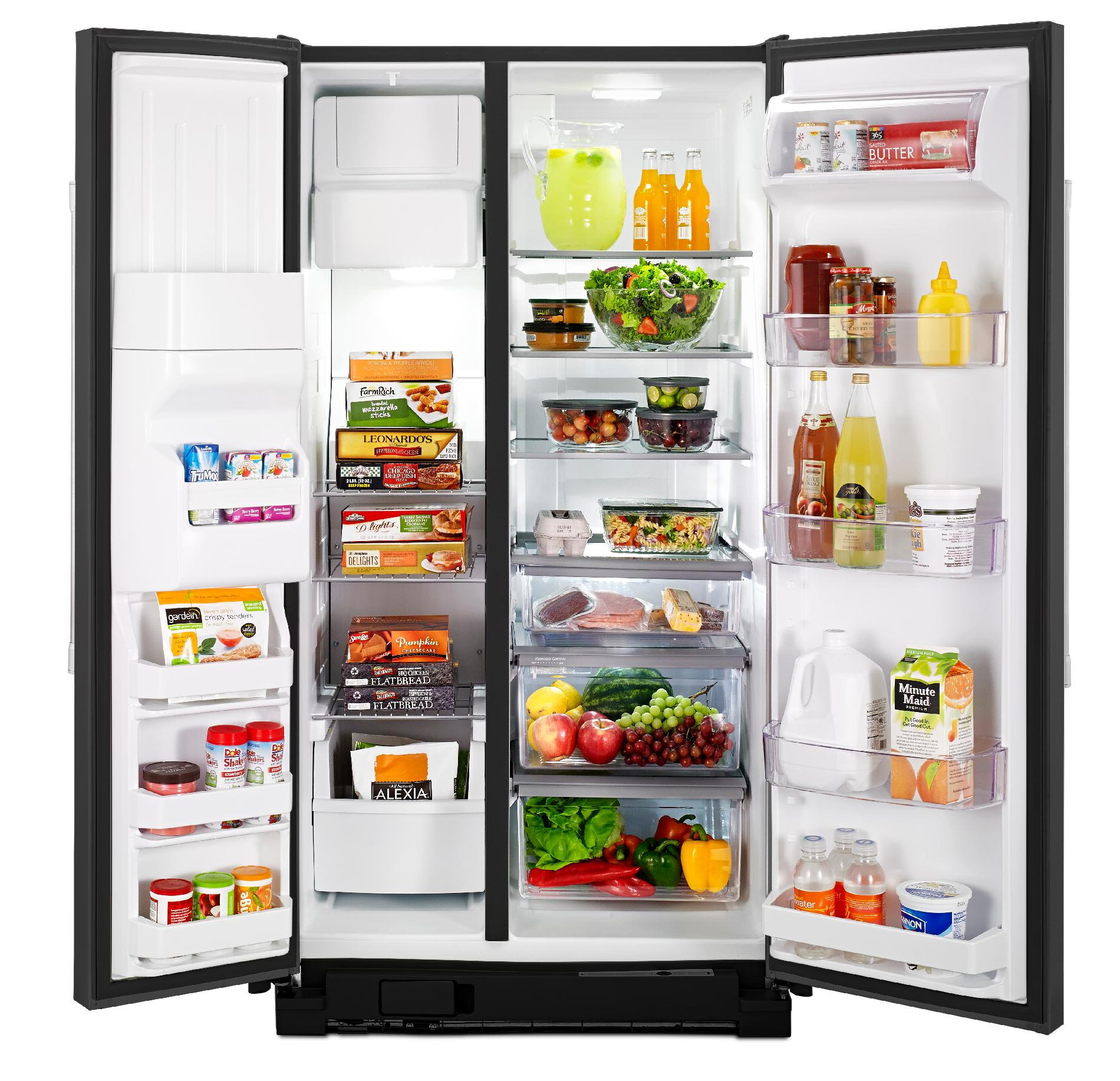 Maytag MSF25D4MDE 24.6 cu. ft. Side-by-Side Refrigerator w/ Ice/Water Dispenser - Black