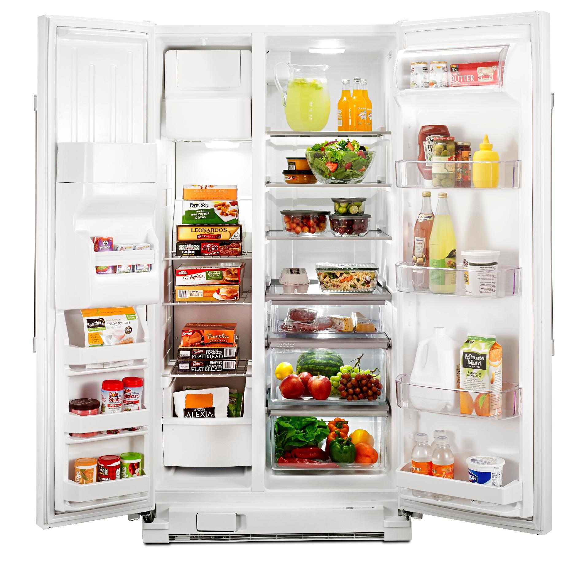 Maytag MSF25D4MDH 24.6 cu. ft. Side-by-Side Refrigerator w/ Ice/Water Dispenser - White