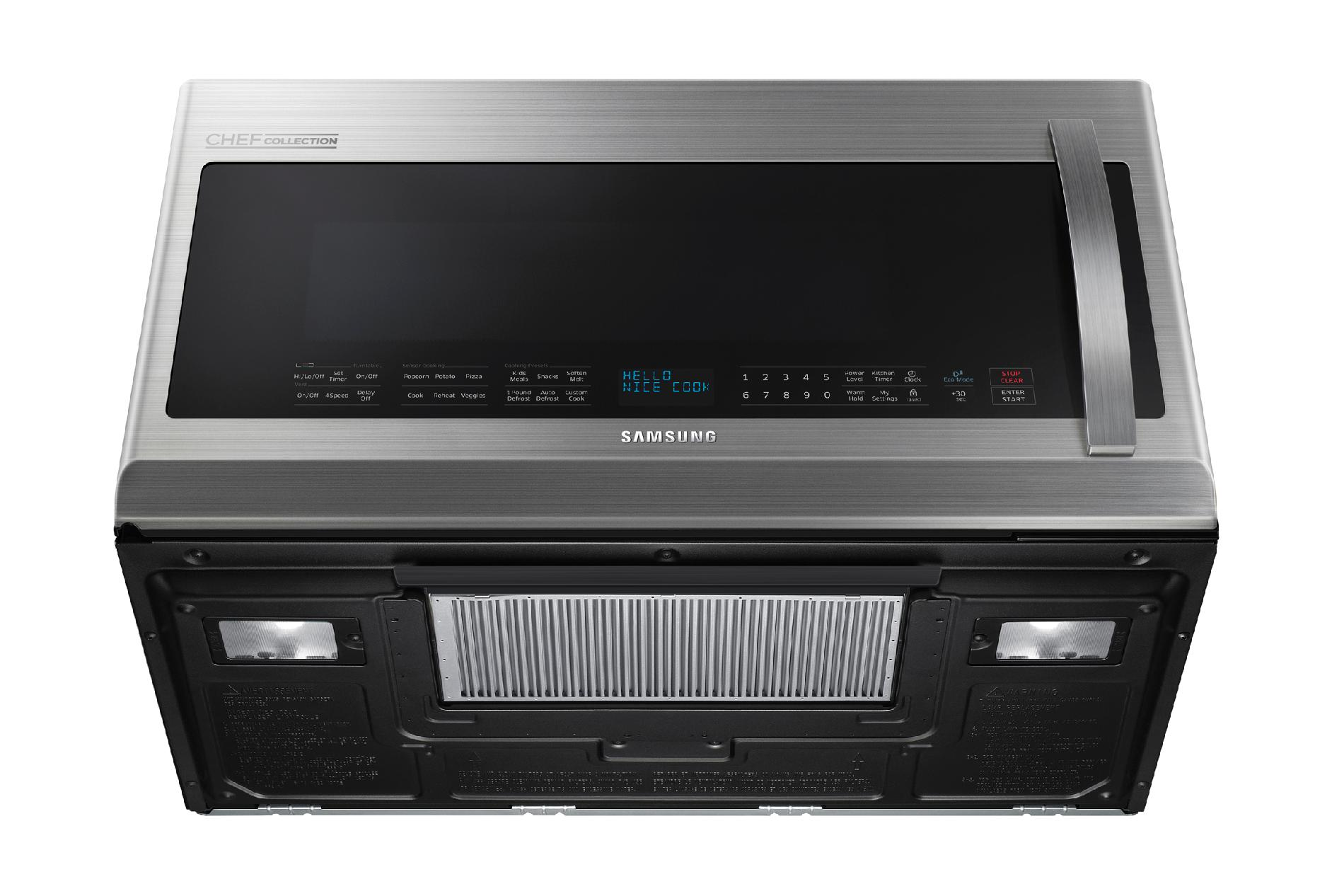 Samsung 2.1 cu. ft. Over-the-Range Chef Collection Microwave w/ Pro-Clean Filter - Stainless Steel