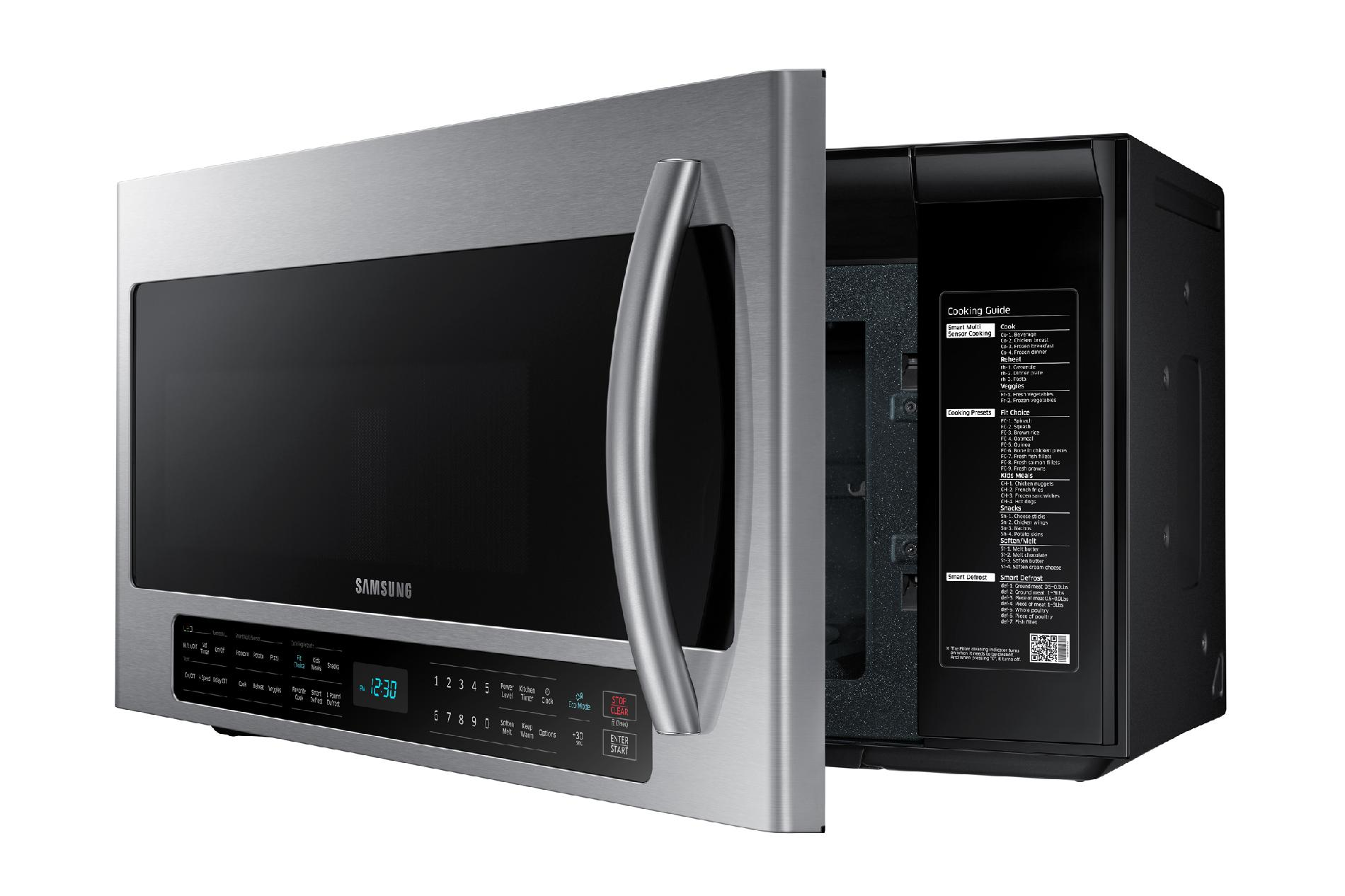 Samsung ME21H706MQS 2.1 cu. ft. Over-the-Range Microwave w/ Multi-Sensor Cooking - Stainless Steel